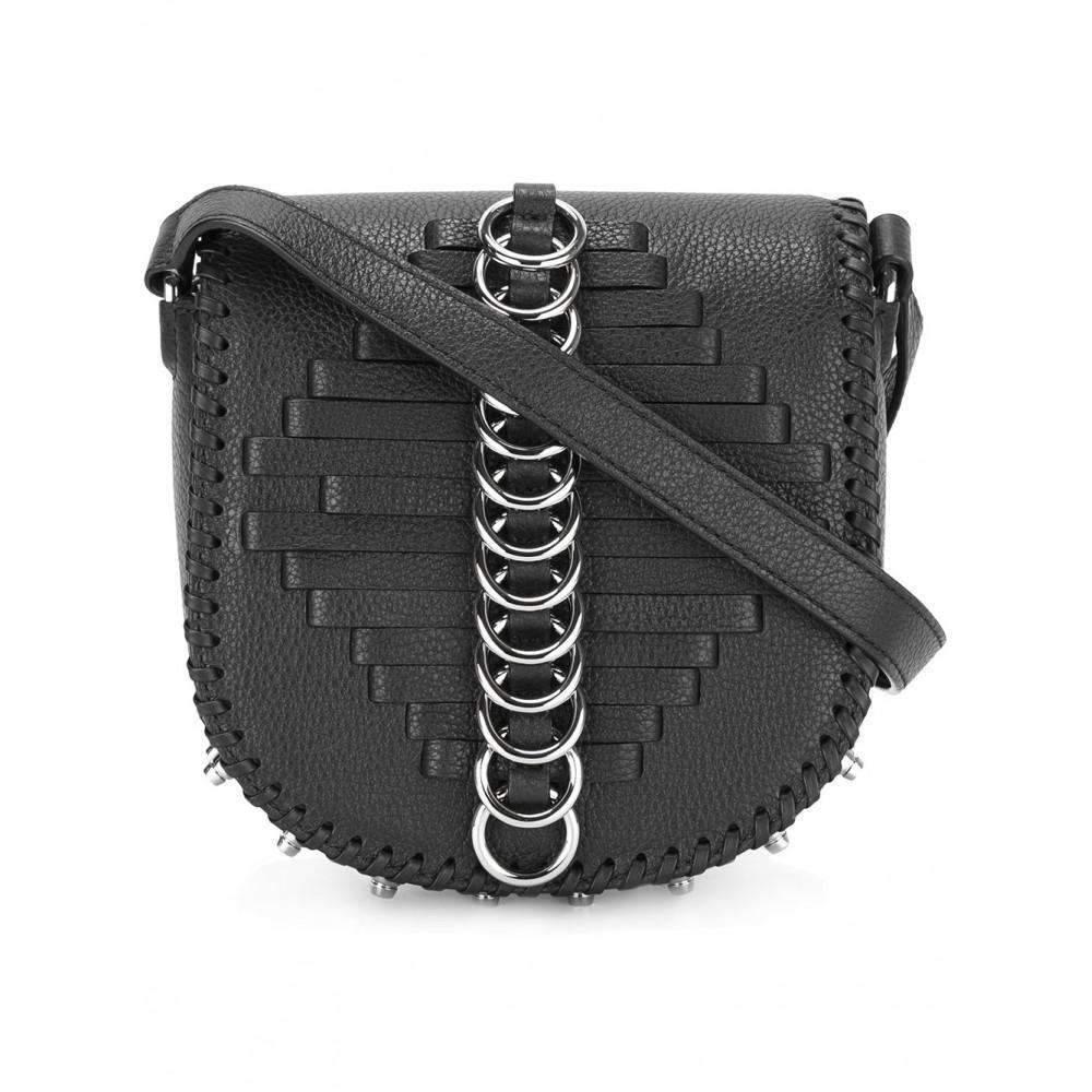 bdcab12f2 Alexander Wang Black Leather Lia Sling Crossbody Bag in Black - Lyst