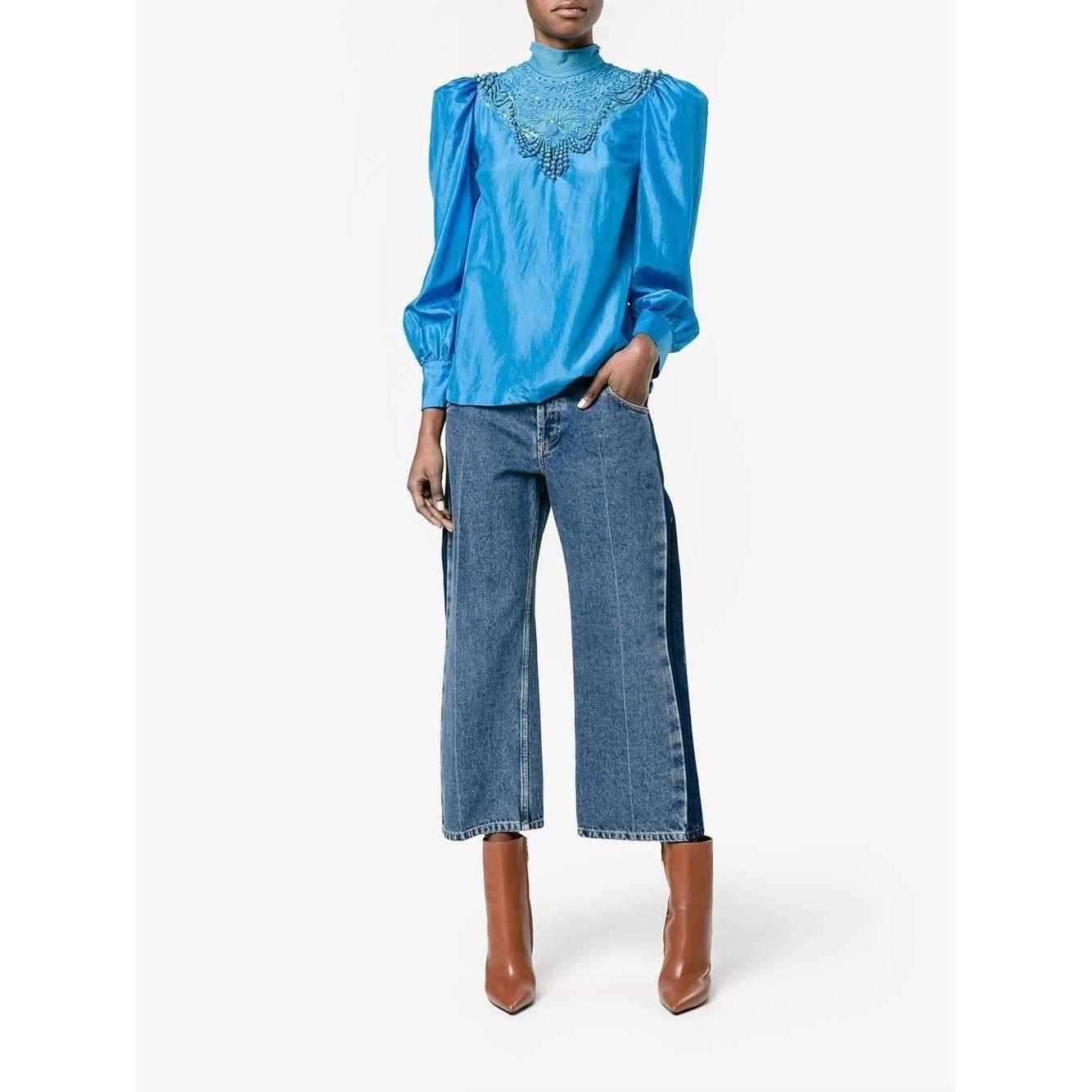 f3ea2ce48883f Dries Van Noten - Blue - Coxy Embellished Blouse - Women - Silk - 34 -.  View fullscreen