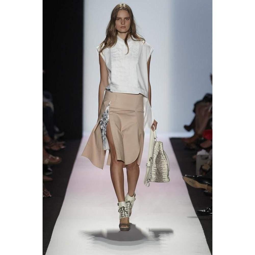 BCBGMAXAZRIA Runway Print-blocked Leather Backpack Bag Dfe538rw-1o6