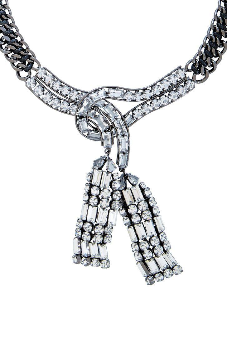 821fe54fbd5 BCBGMAXAZRIA - Multicolor Chain Stone Necklace - Lyst. View fullscreen