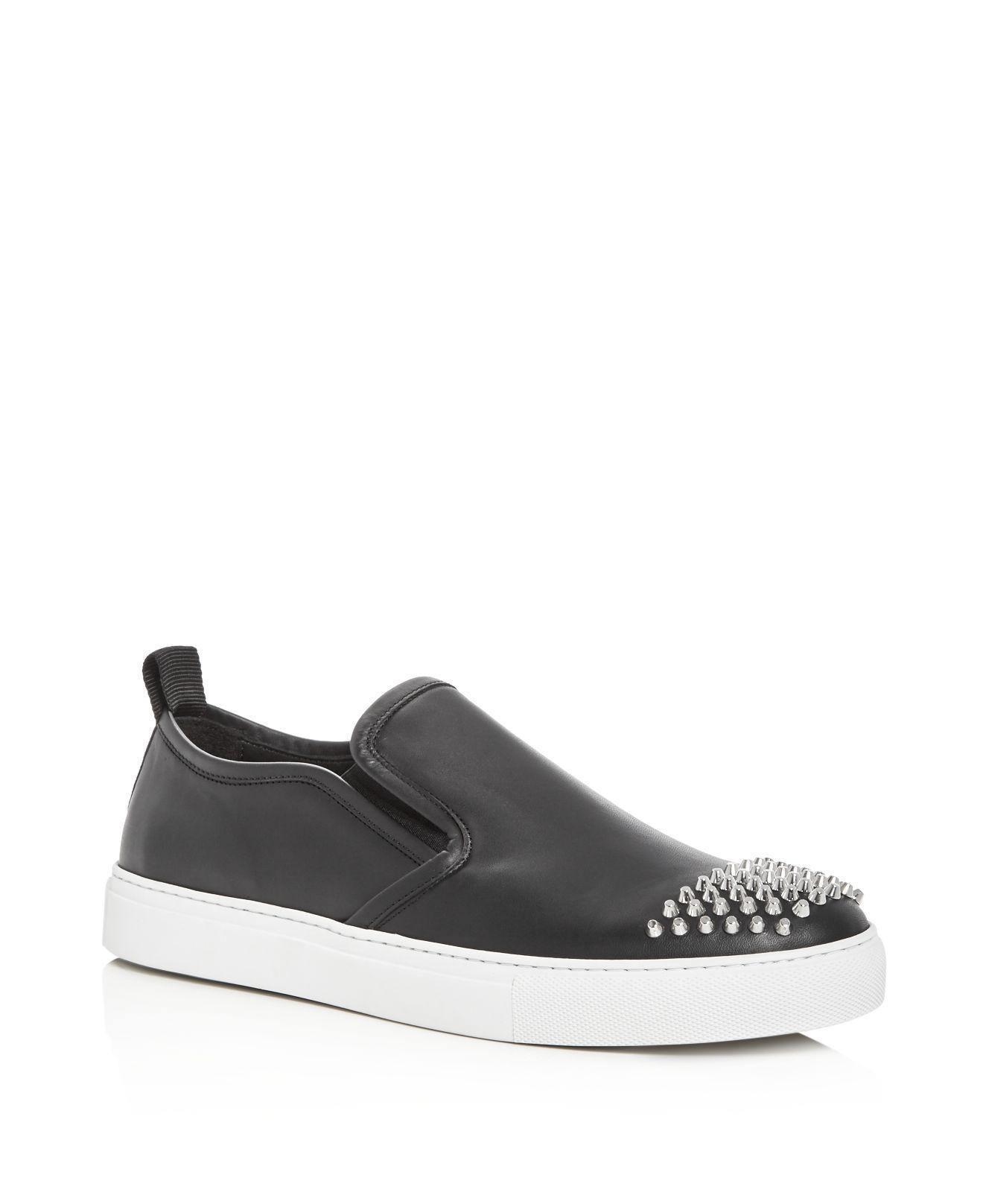 c4c72100327 Gucci Mcq Alexander Mcqueen Chris Studded Leather Slip-on Sneakers ...