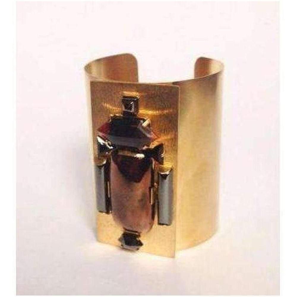 Helene Zubeldia Gold Maxi Beetle Cuff in Metallic