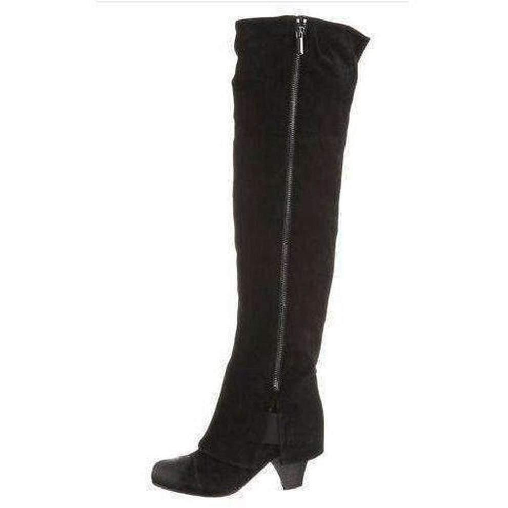 Latitude Femme Silky Black Suede Boots