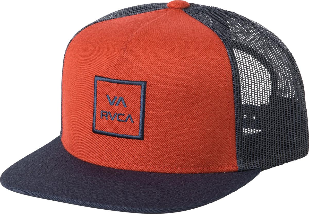 premium selection 3b837 bebef ... switzerland lyst rvca va all the way trucker hat iii in red for men  db87f b8ce0 ...