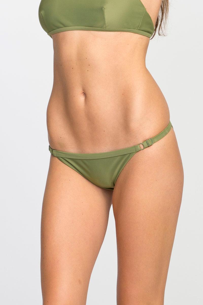 fc4736f1cf Lyst - Rvca Solid Medium Bikini Bottoms in Green