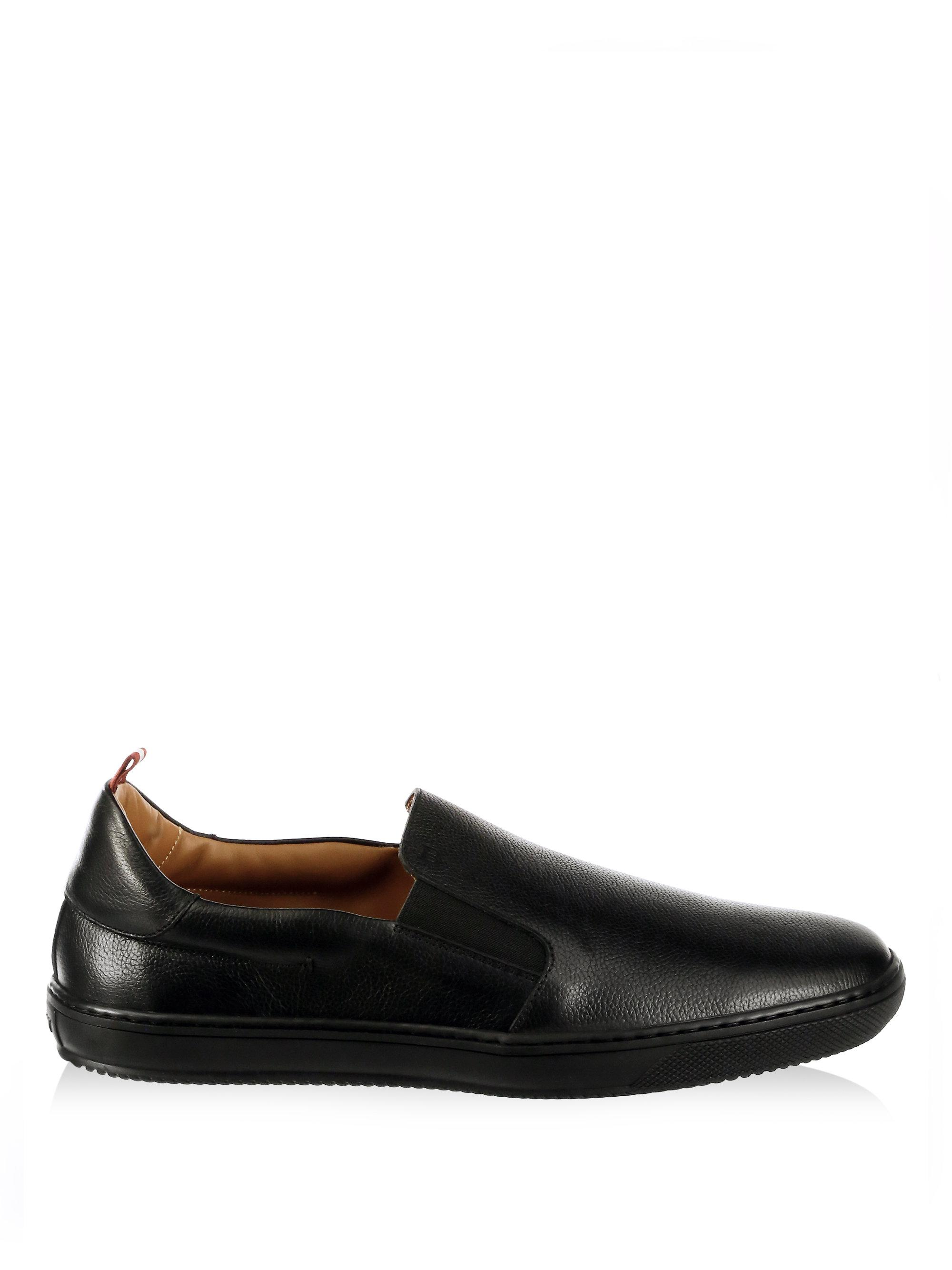 Bally Orniel Leather Slip-on Sneakers