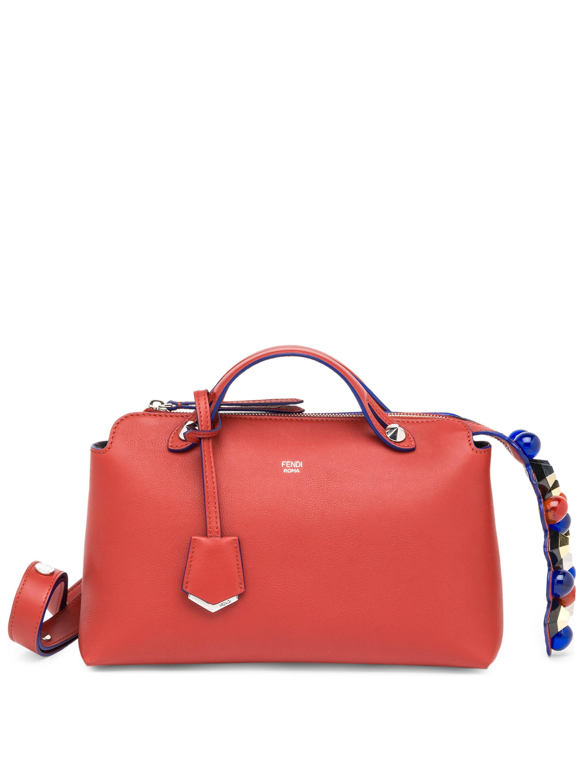 e0d388dc7ed7 Lyst - Fendi Women s By The Way Small Studded Leather Satchel ...