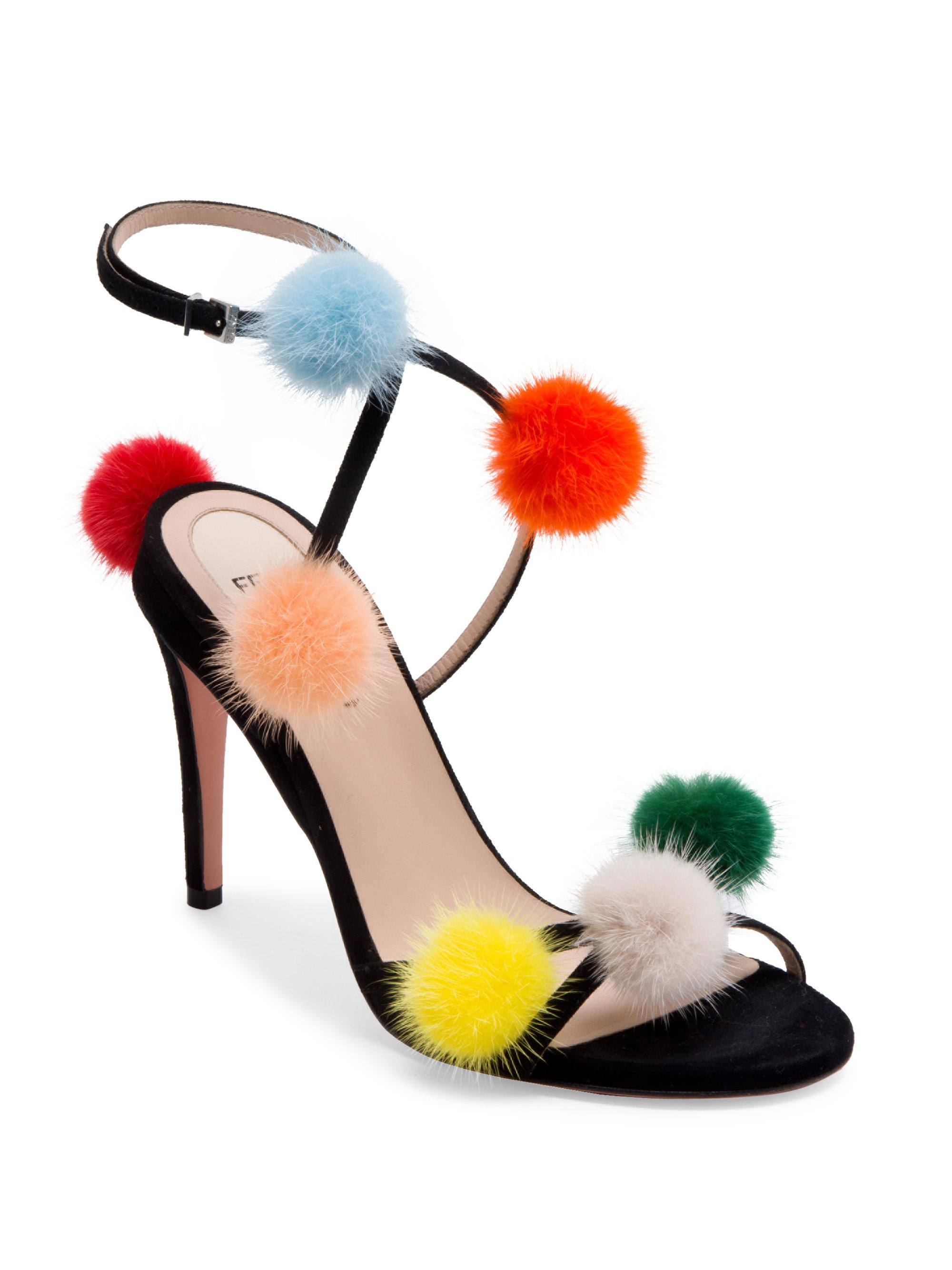 Fendi Mink-Trimmed Suede Sandals recommend cheap price sale with mastercard very cheap cheap online with paypal 9uuTDH