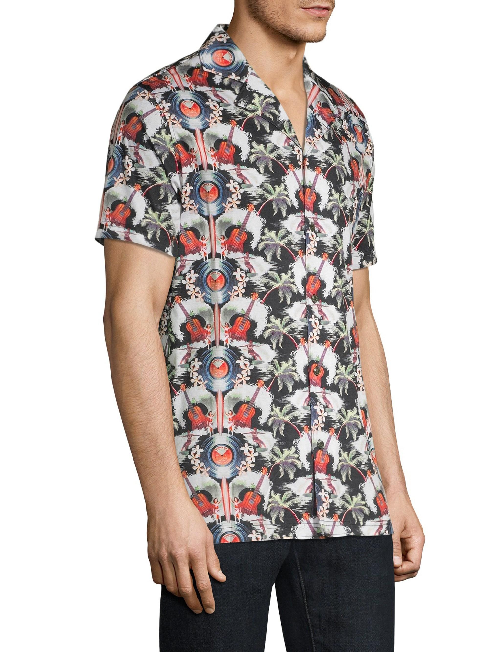 67d1ad048 Robert Graham Men's Guitar Camp Short-sleeve Print Shirt - Size Small for  Men - Lyst