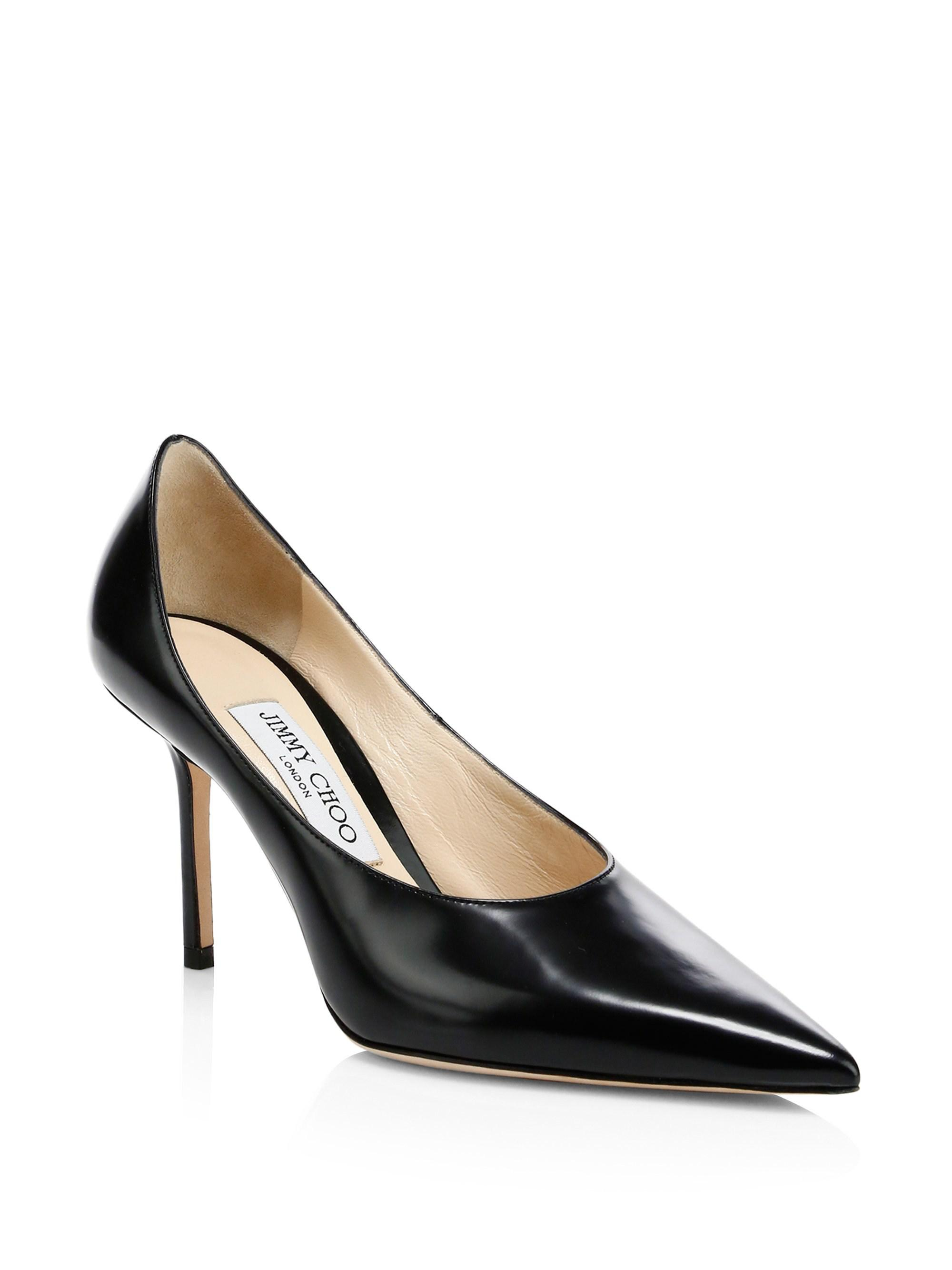 a6884261fd5 Jimmy Choo. Women s Black Ava Point Toe Court Shoes. £536 From Saks Fifth  Avenue
