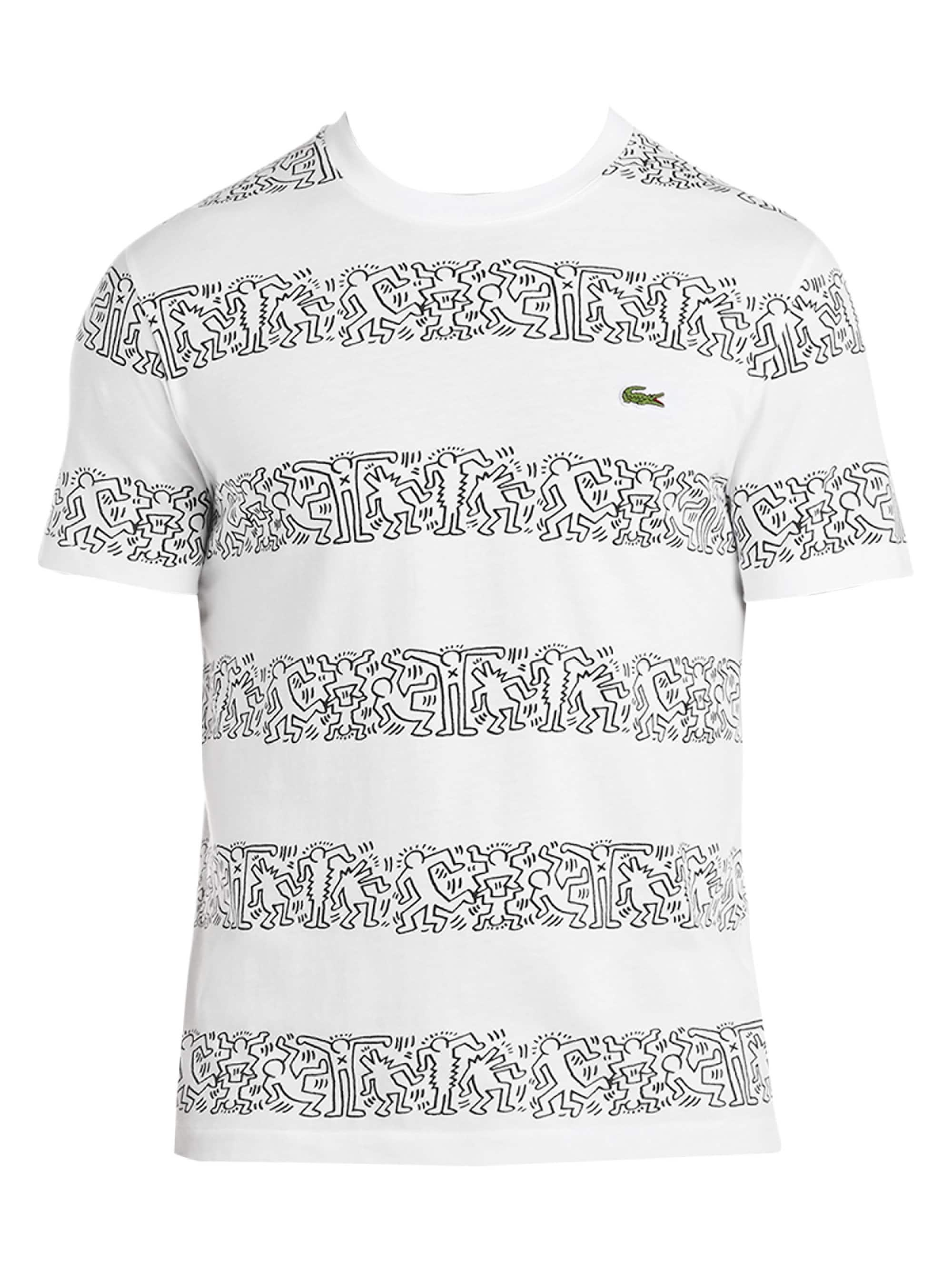 b50b1777 Lacoste White S/s Printed Stripes Jersey T-shirt for men