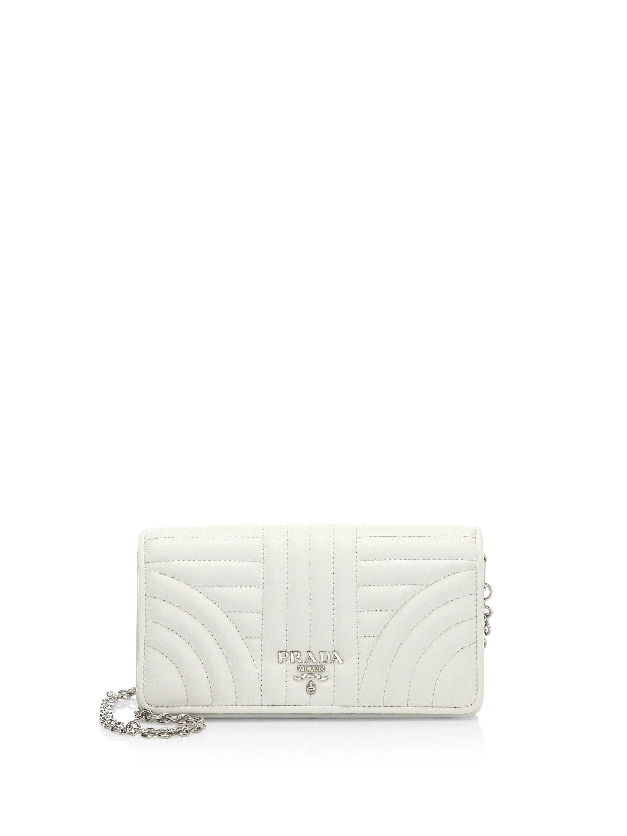 1c5a18e75c2c italy prada saffiano lux chain crossbody bag pink 5a76d eccdc; promo code  prada quilted crossbody wallet on chain in white lyst 523f3 1ca46