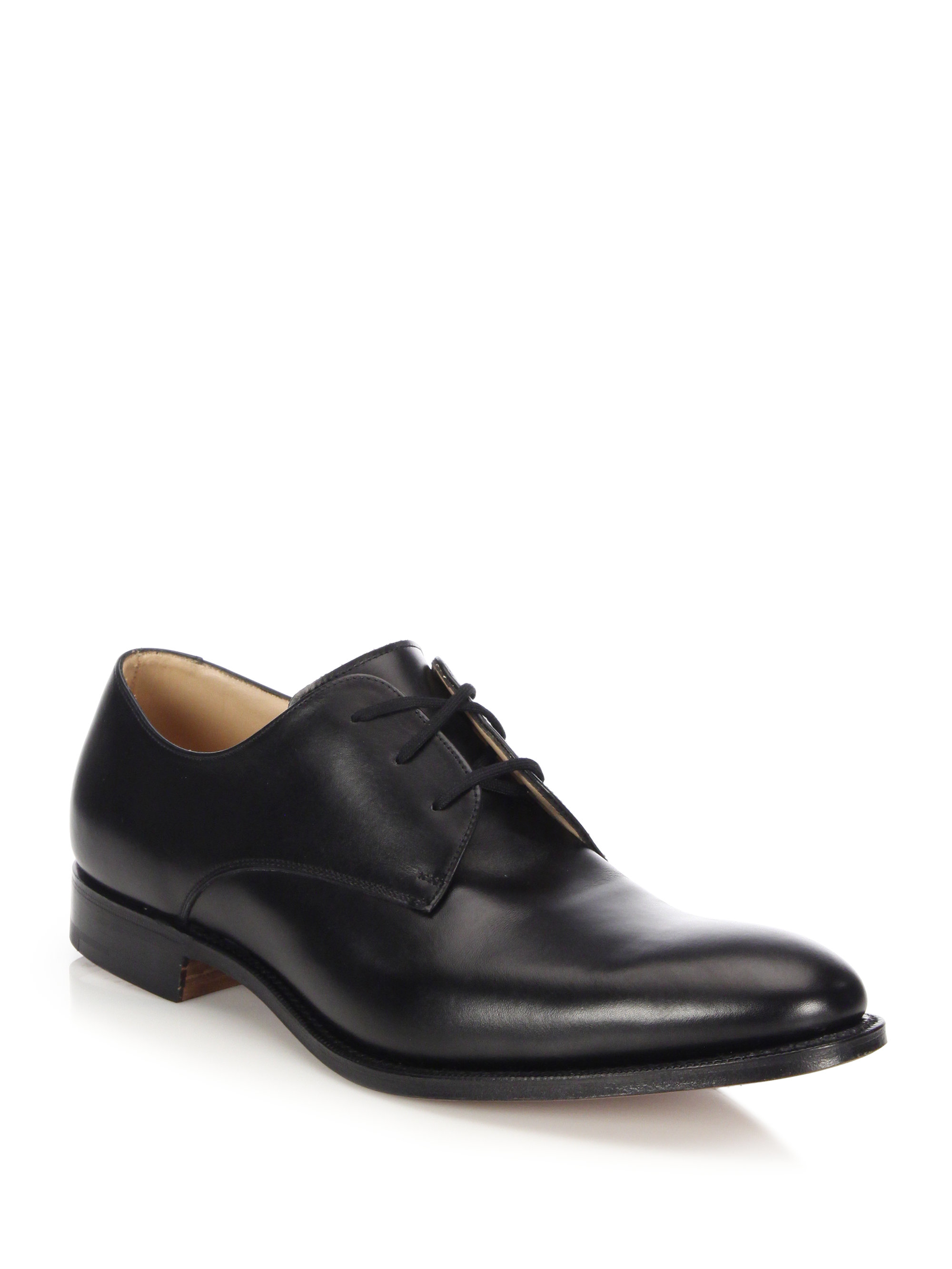 church s oslo plain leather dress shoes in black for