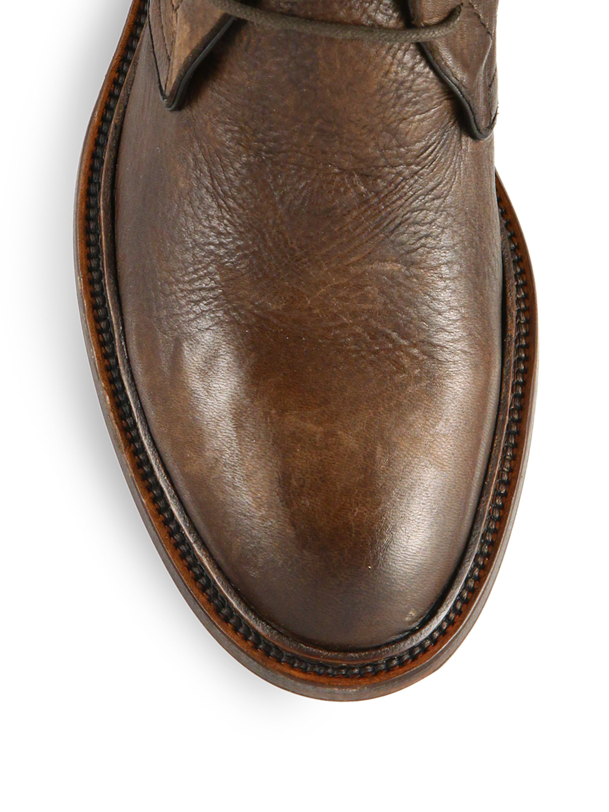 Lyst To Boot Clemmons Deerskin Chukka Boots In Brown For Men