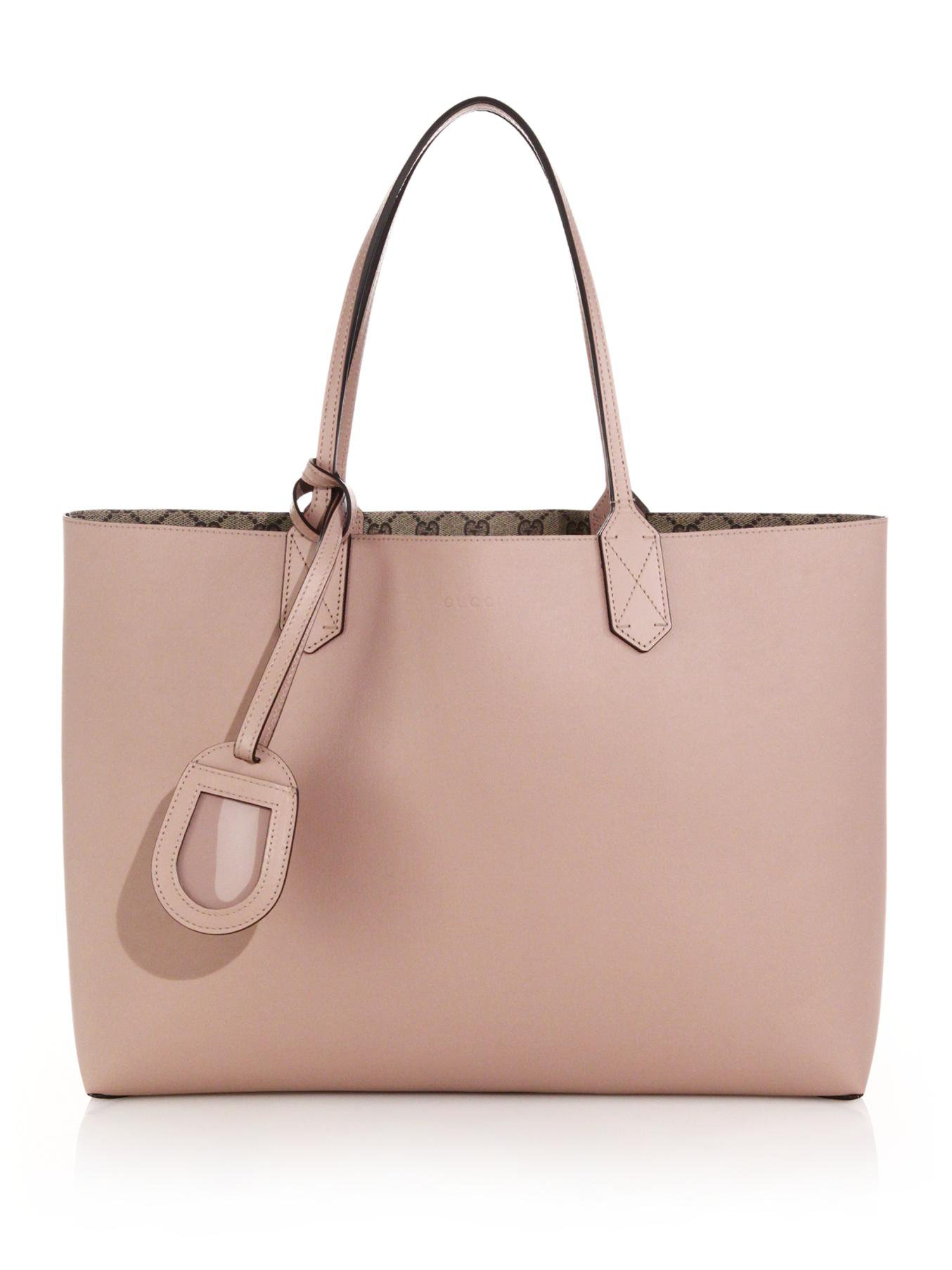 805220964670 Gucci GG Reversible Medium Leather Tote in Pink - Lyst