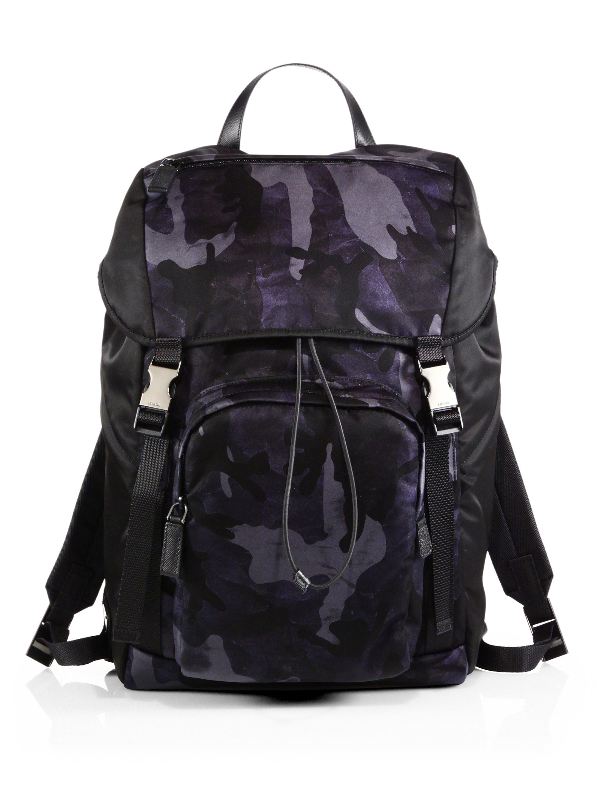 b5def8e1248f ... where to buy lyst prada nylon camouflage backpack in blue for men 1988f  1d36d ...