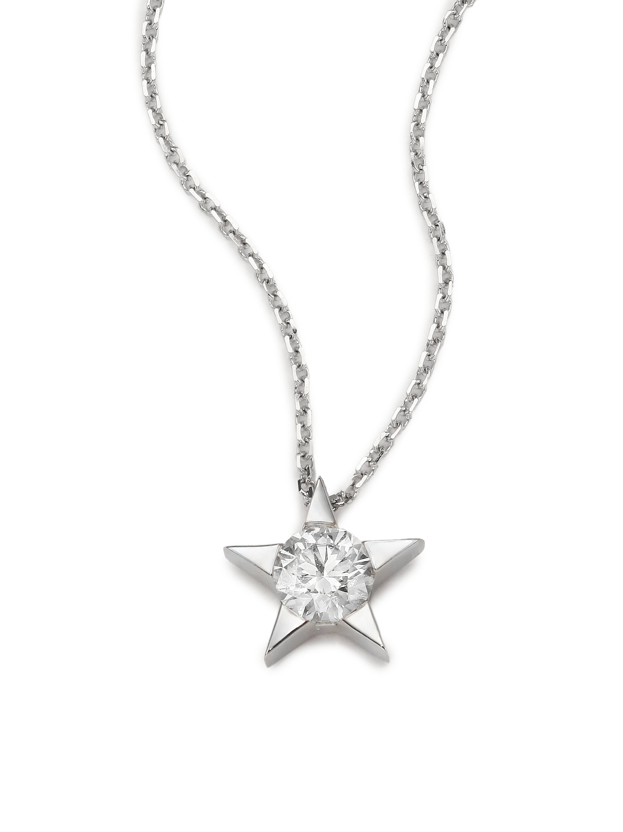 Hearts on fire Illa Diamond & 18k White Gold Pendant Necklace in