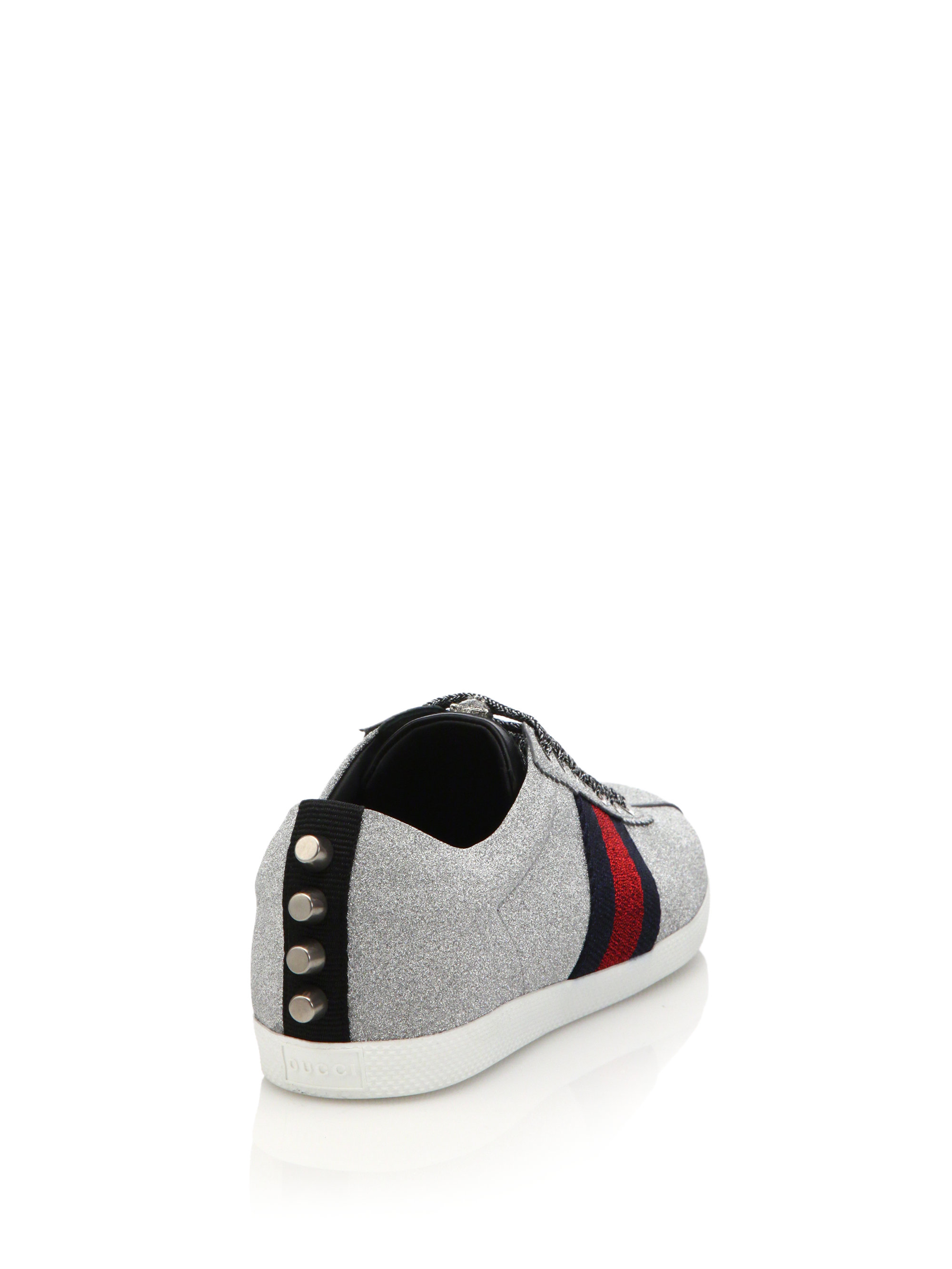 Gucci Lace Bambi Glitter Sneakers in