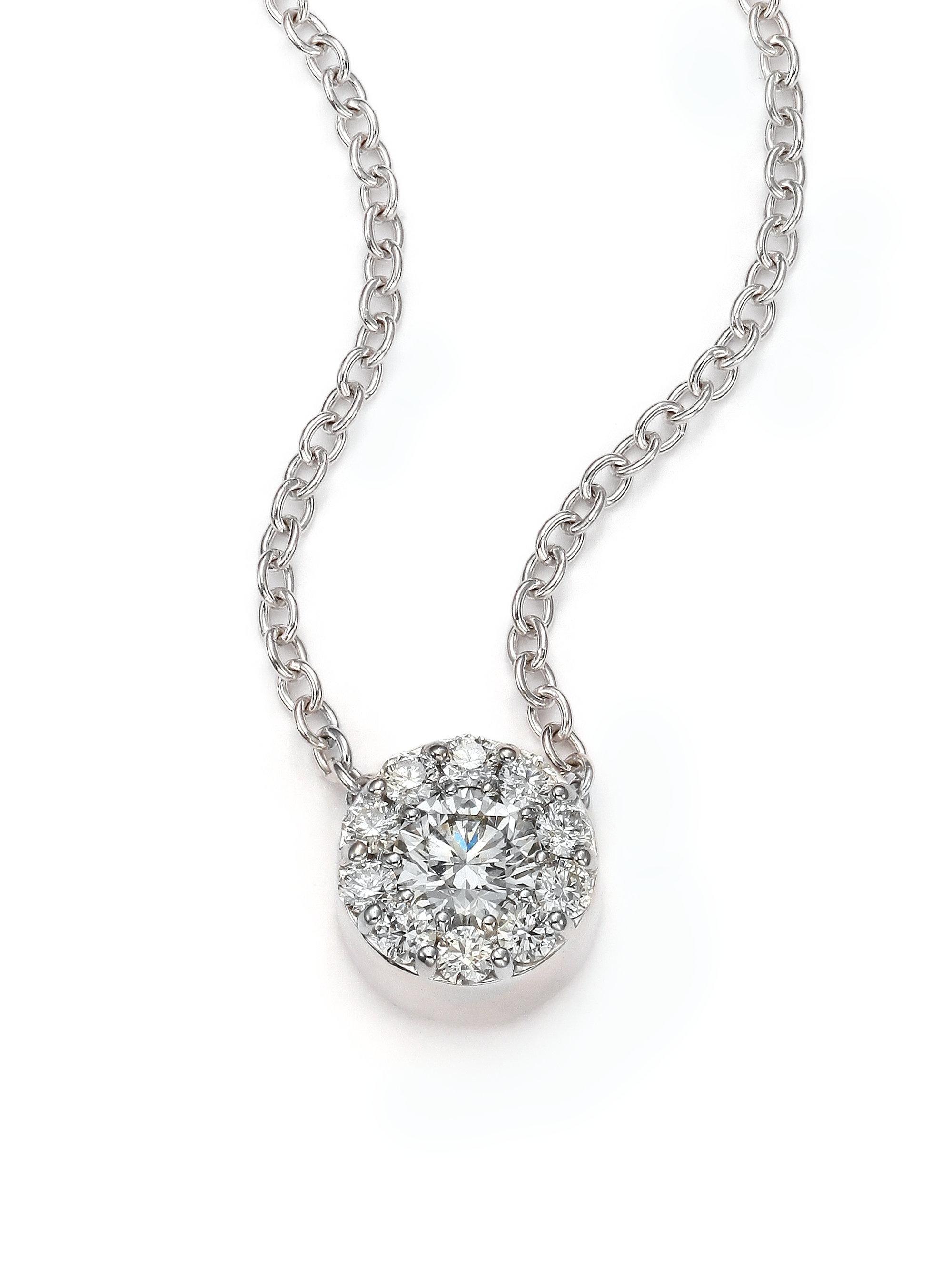 Hearts on fire Lorelei Diamond & 18k White Gold Floral Pendant