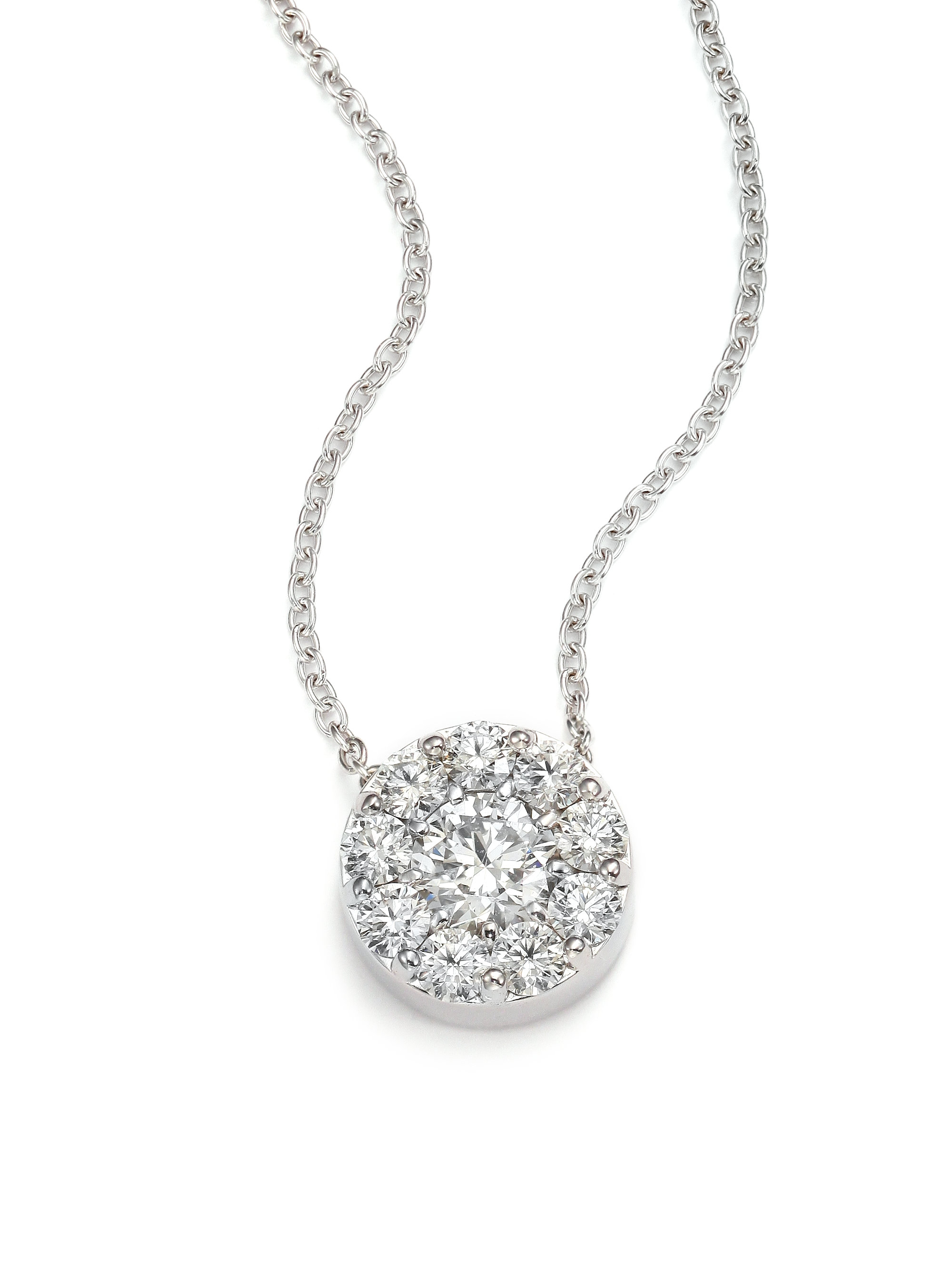Hearts on fire Fulfillment Diamond & 18k White Gold Pendant