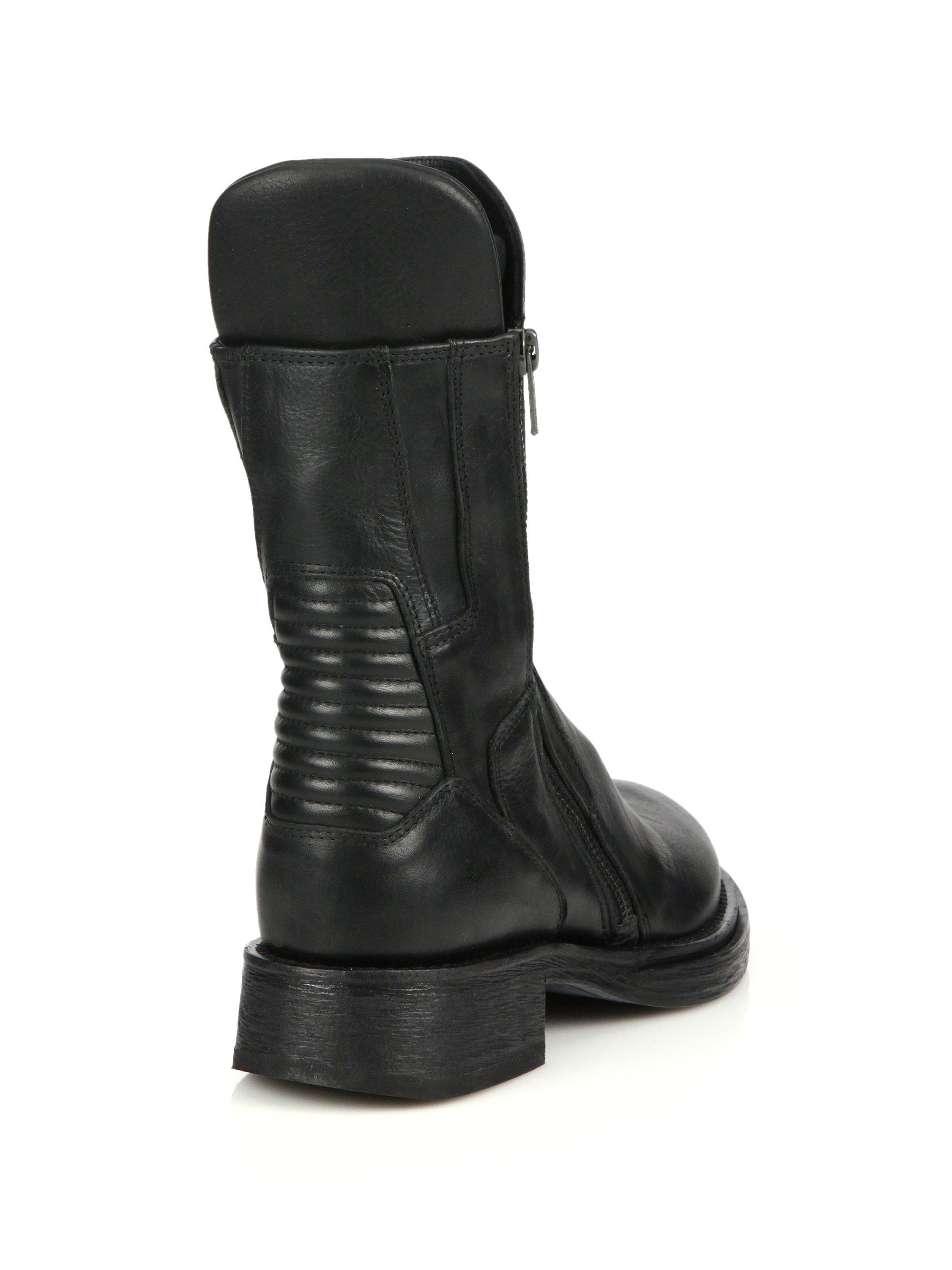 ANN DEMEULEMEESTER Black Tall Buckle Boots Faible Coût De Réduction À La Recherche De La Vente En Ligne d2xTC