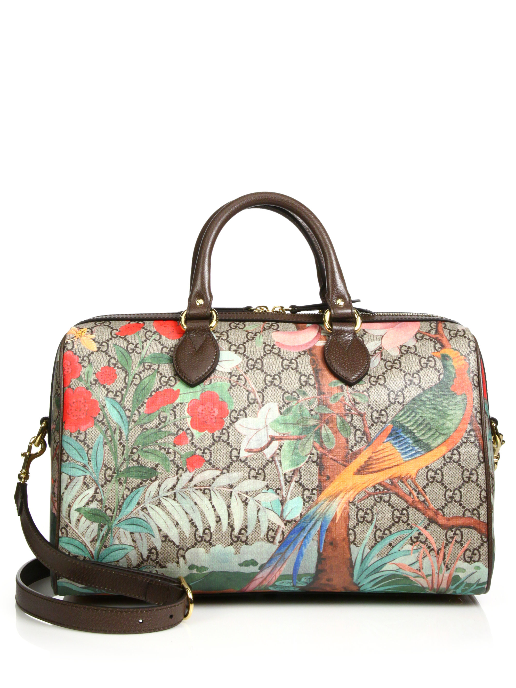 eced9ec0861e97 Gucci Tian Gg Supreme Top-handle Boston Bag - Lyst