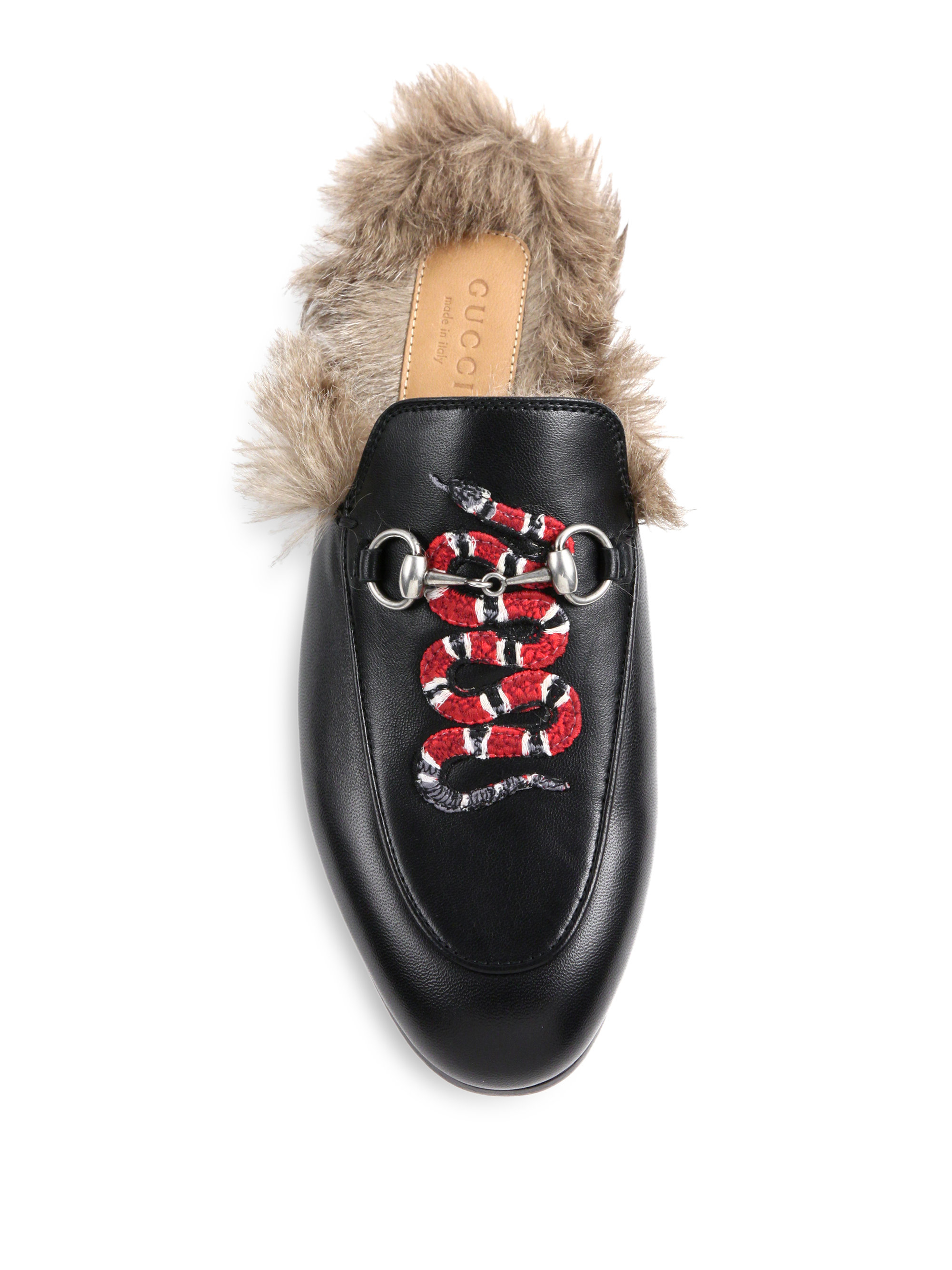 Gucci Princetown Fur-lined Snake