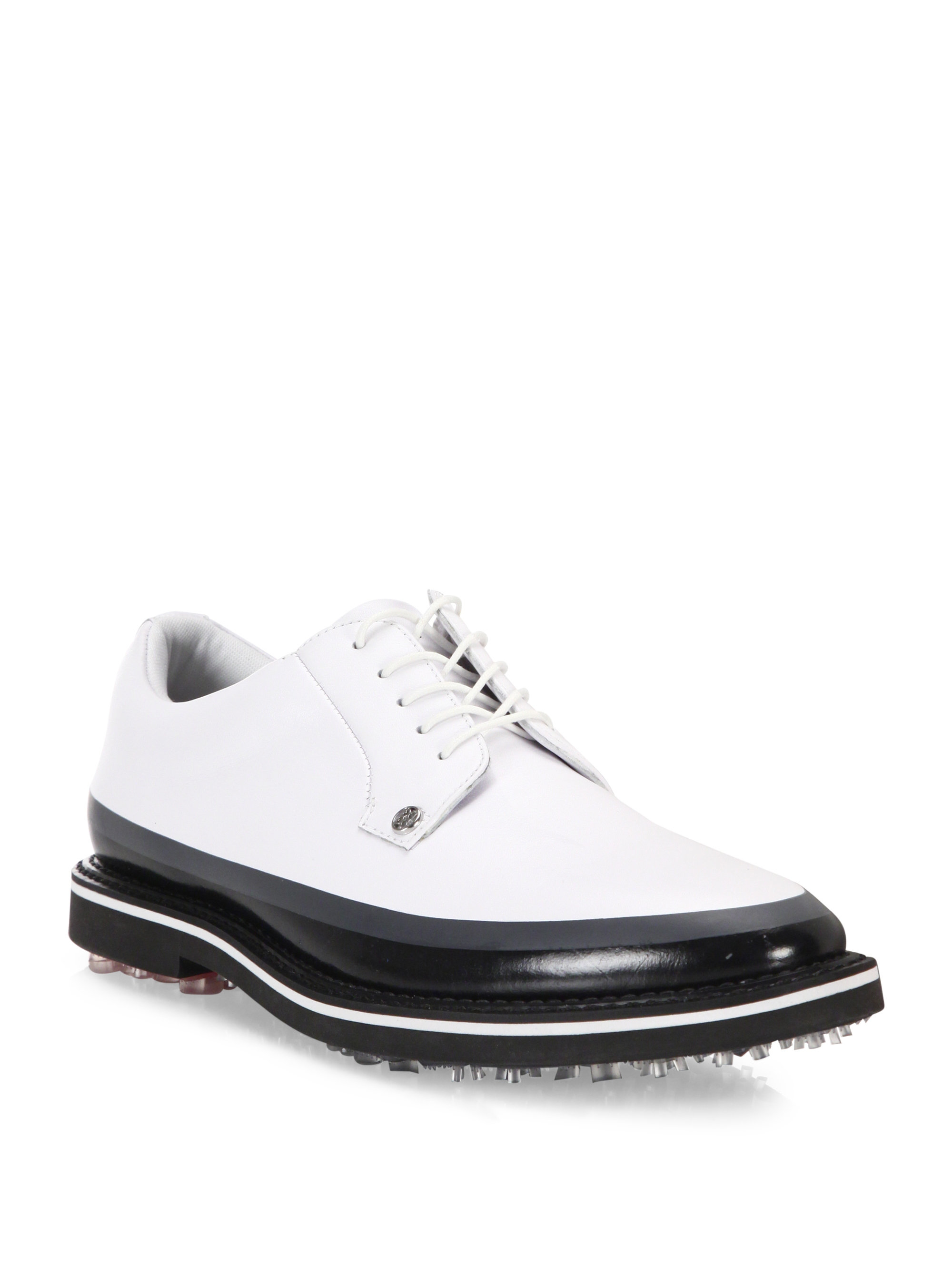 g fore gallivanter waterproof leather shoes in white for