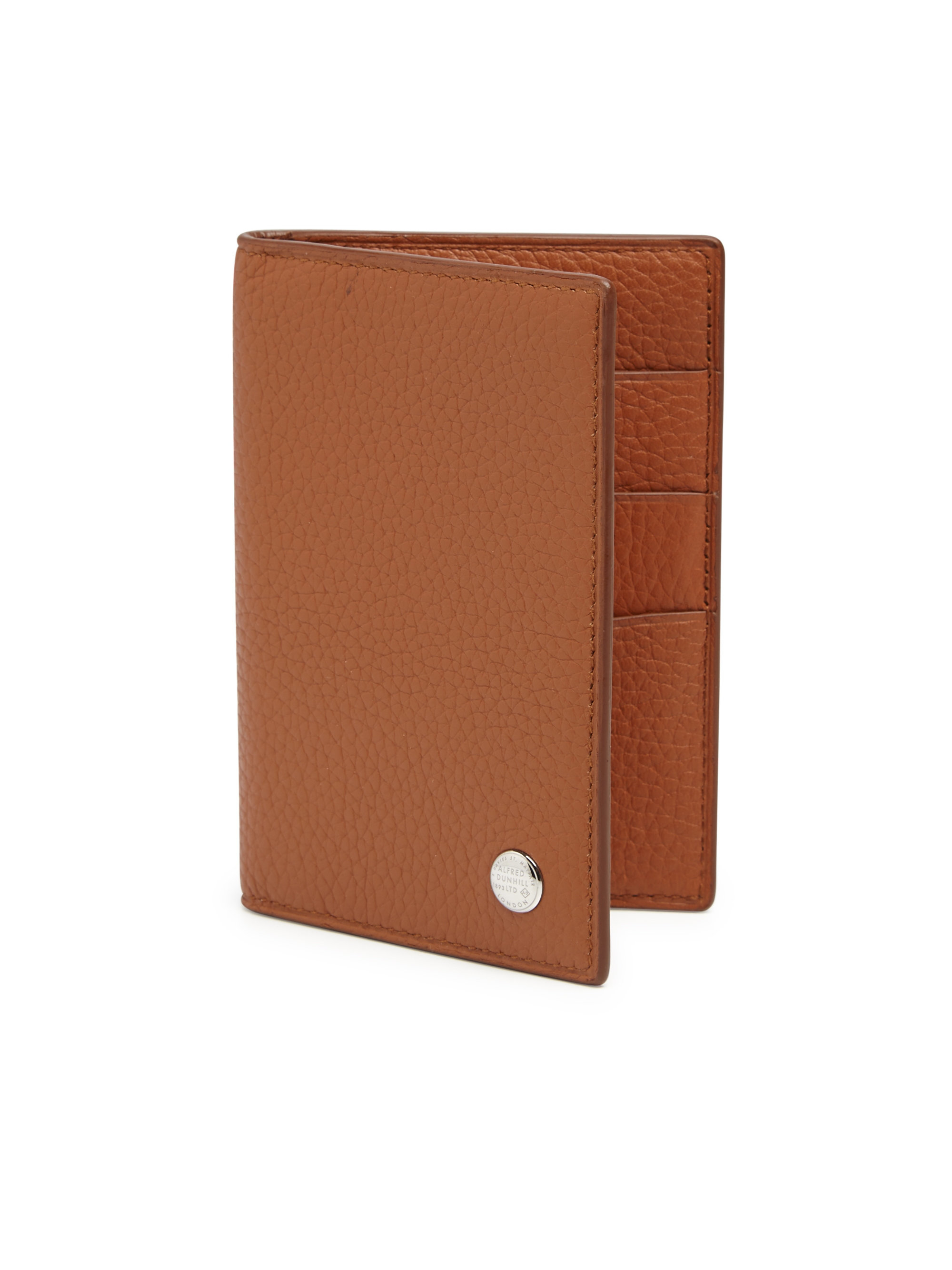 Dunhill Boston Leather Business Card Case in Brown for Men