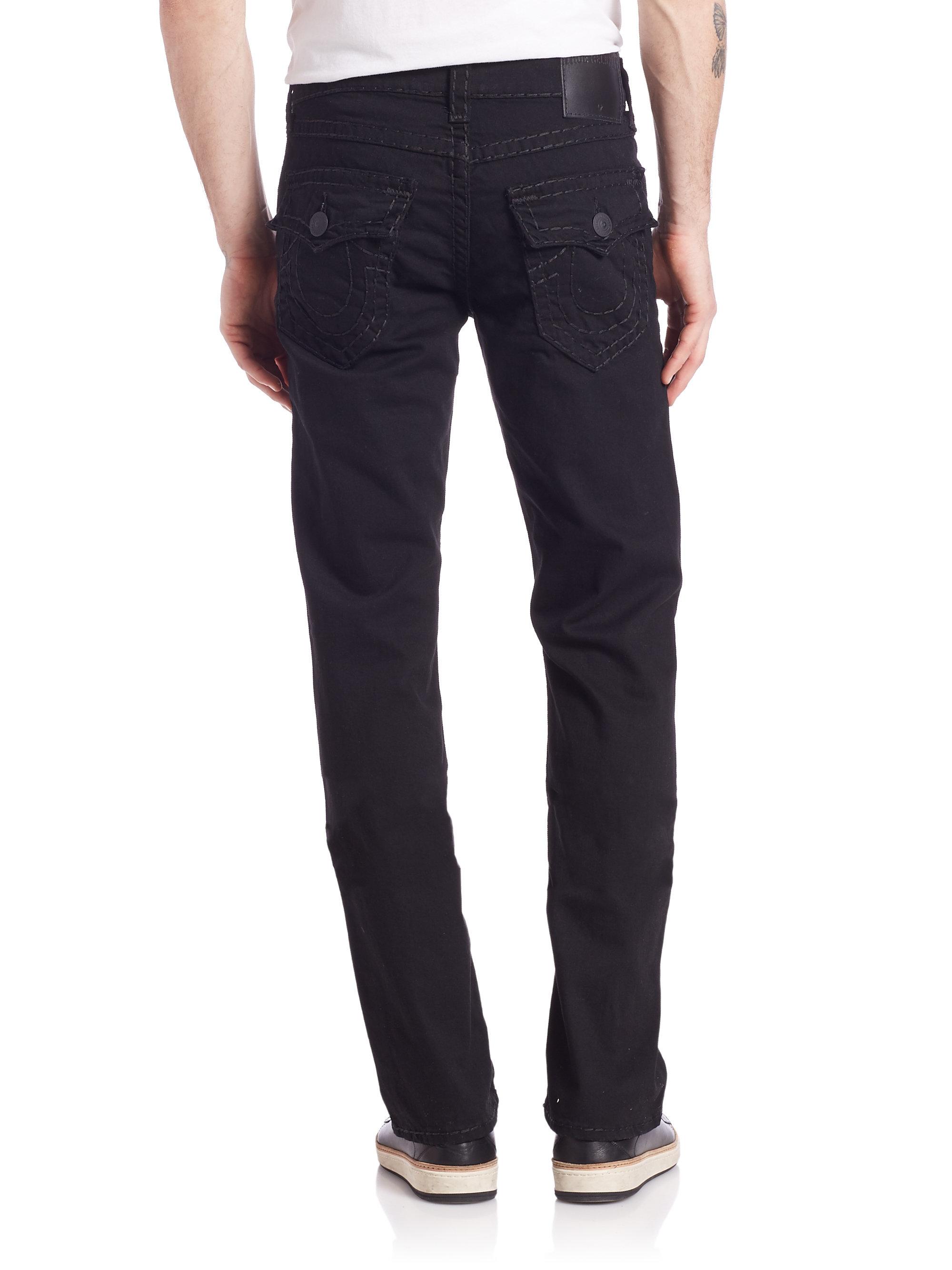 True religion Ricky Straight Jeans in Black for Men | Lyst