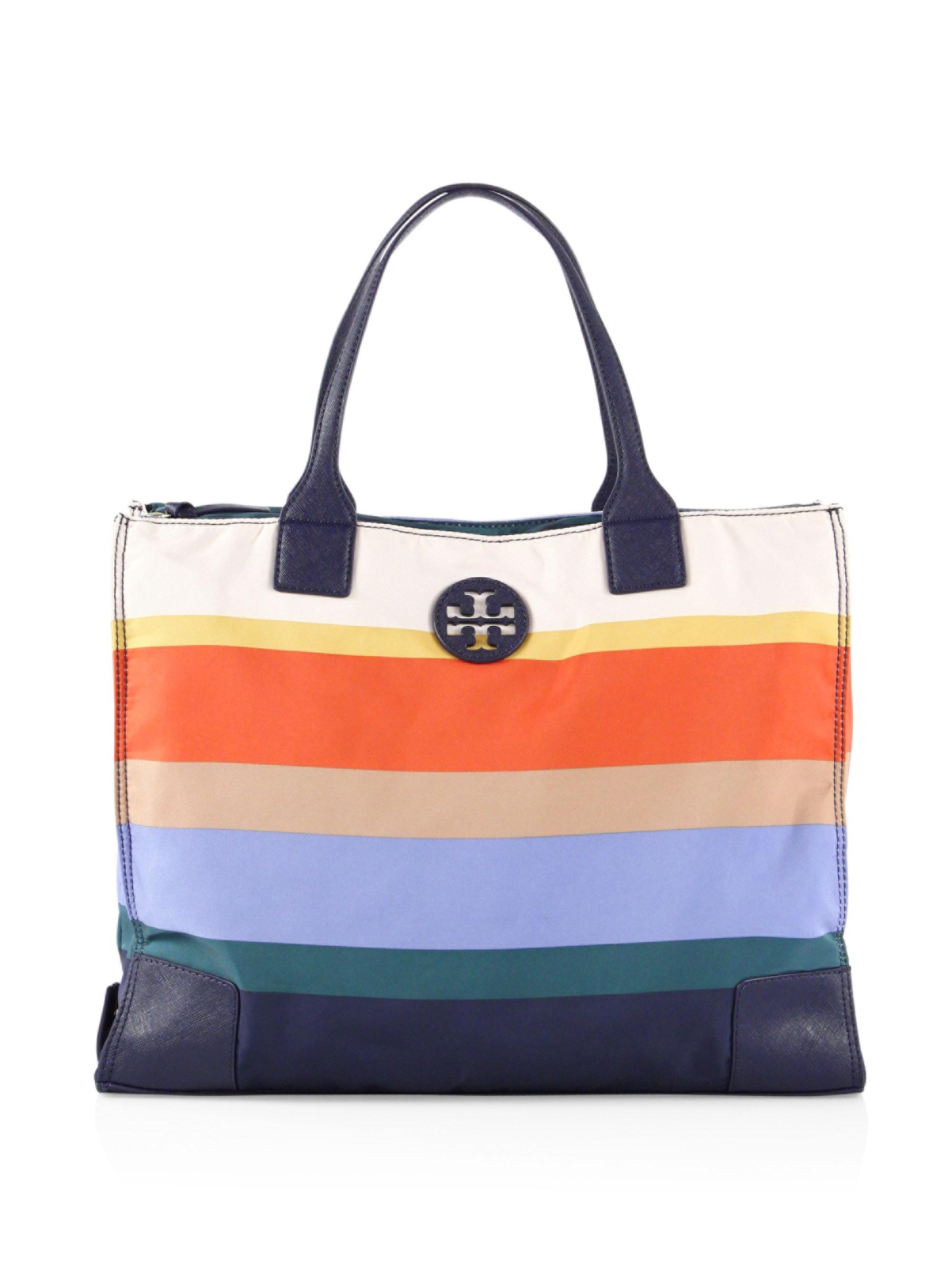 17eb2c703d85 Lyst - Tory Burch Ella Packable Printed Journey Stripe Tote