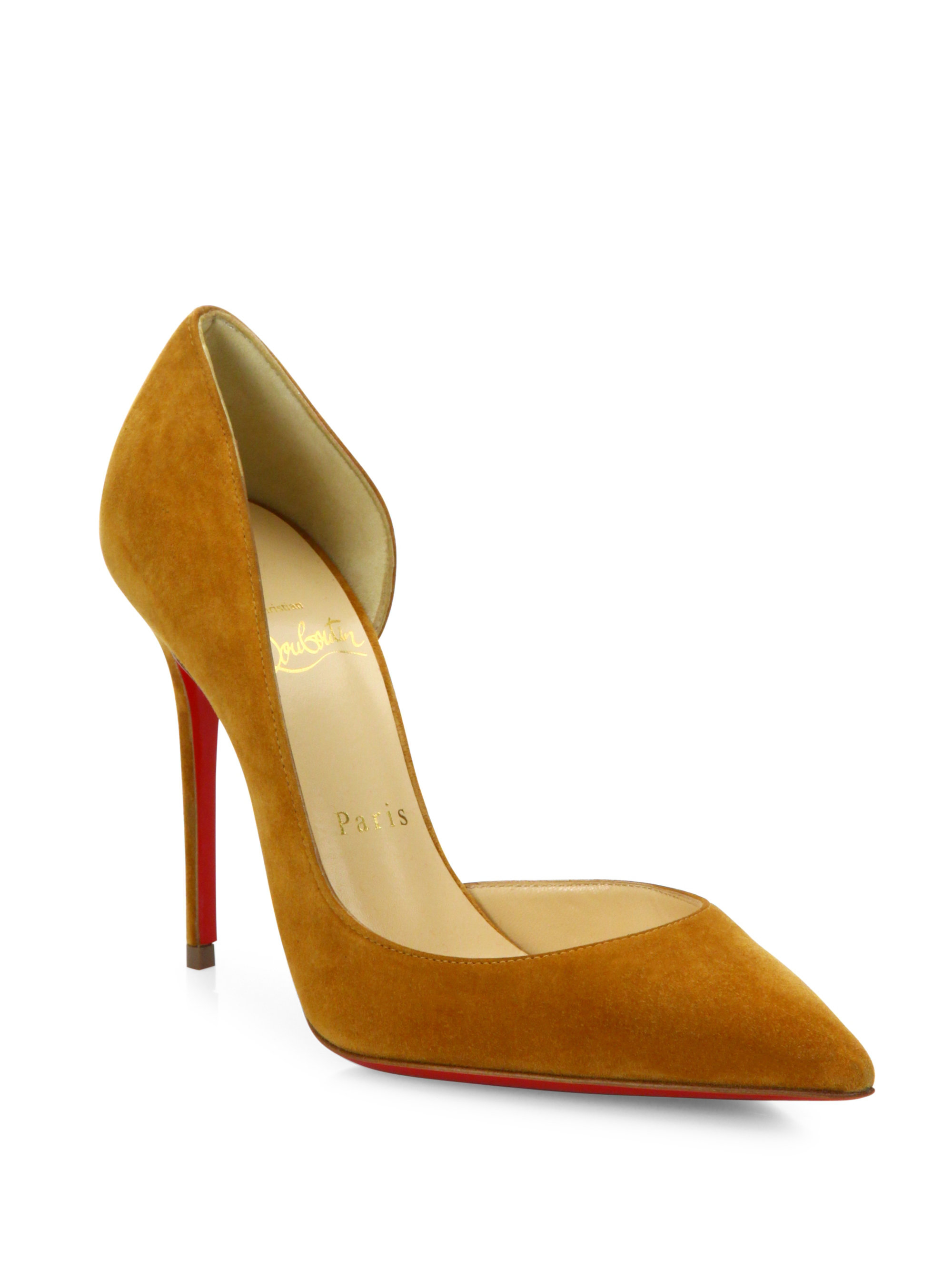 christian louboutin suede classic pumps