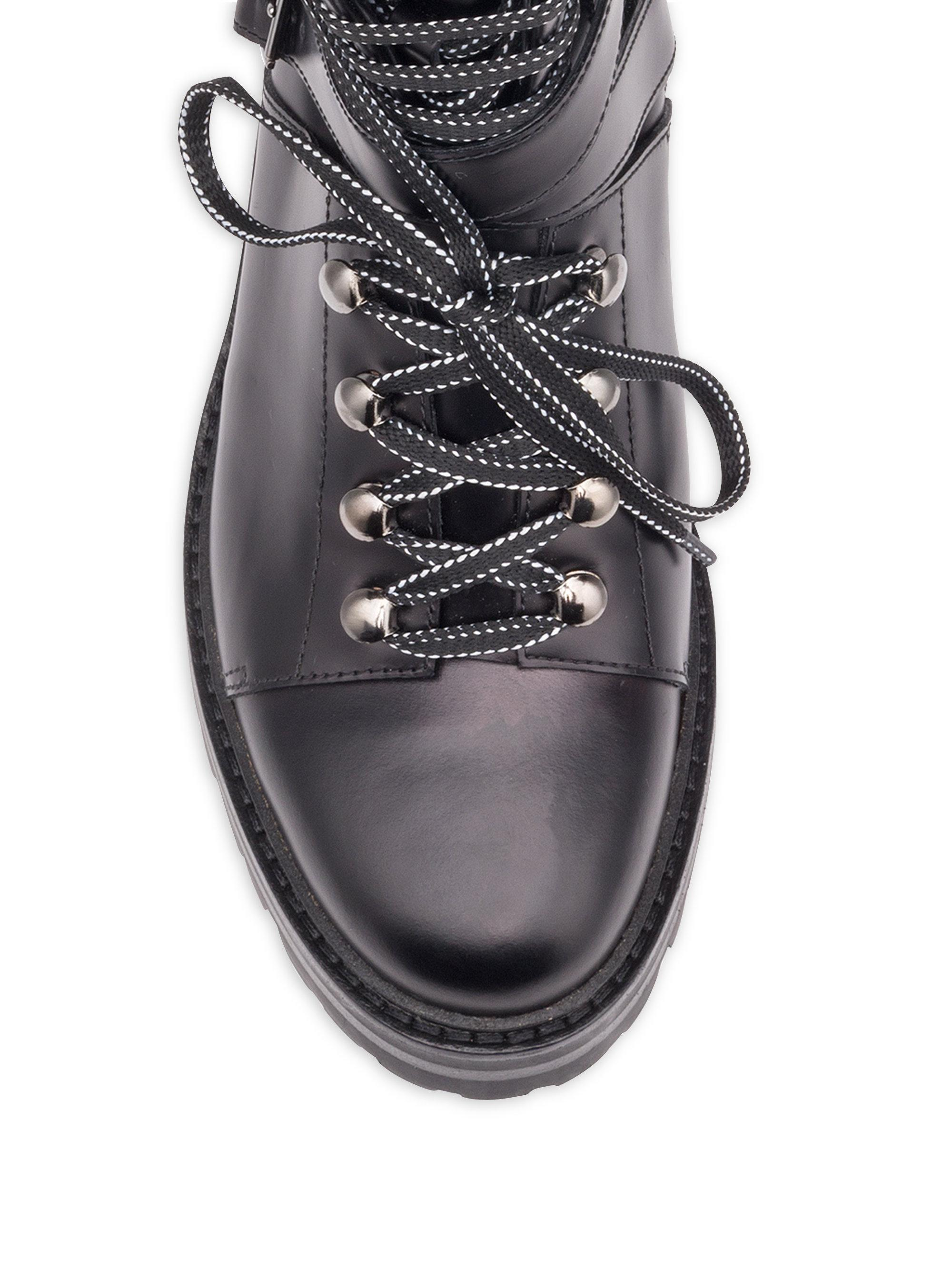 Valentino Rockstud Leather Combat Boots In Black Lyst