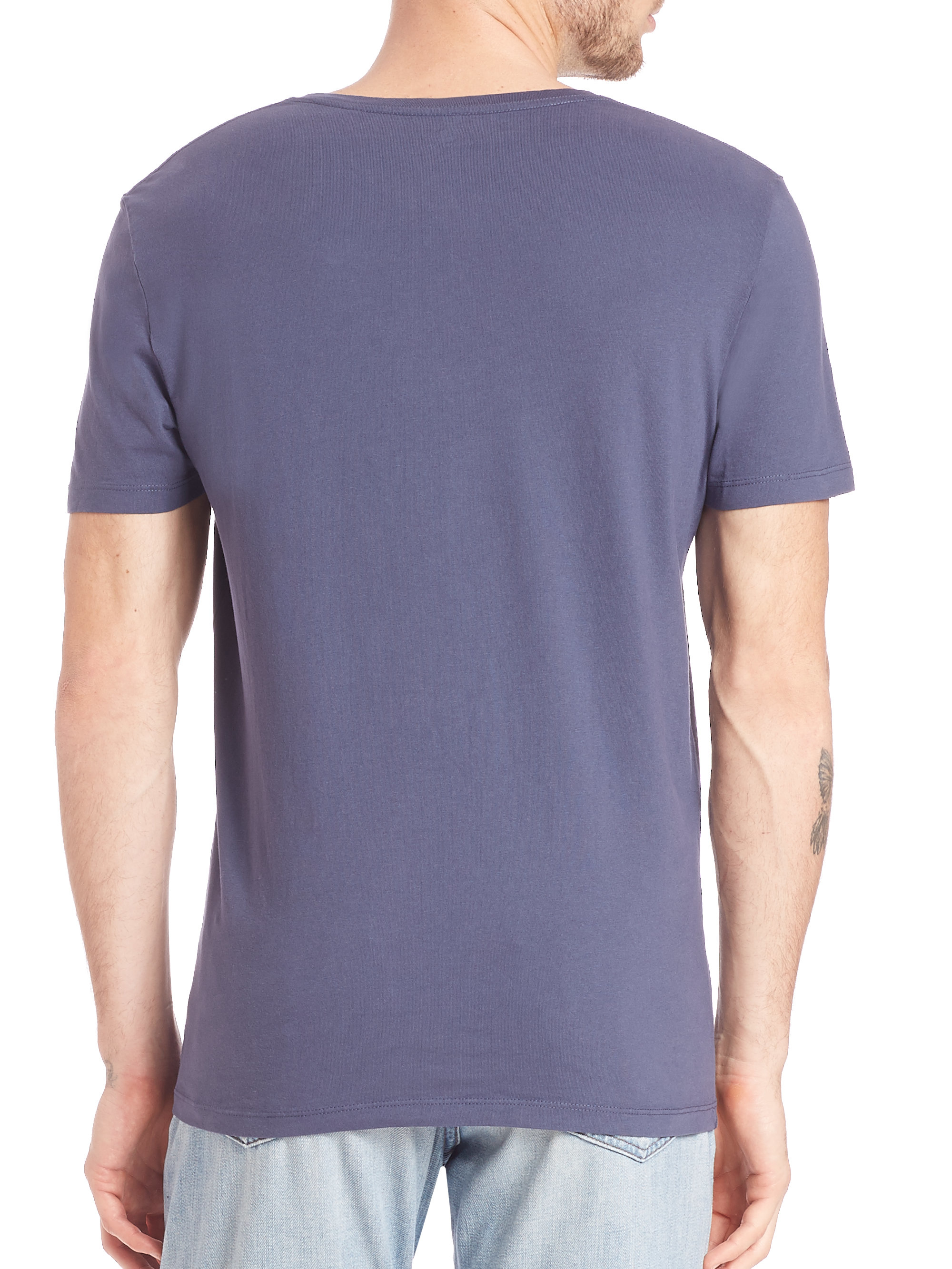 Lyst Ag Jeans The Cliff Crew Pima Cotton Tee In Blue For Men