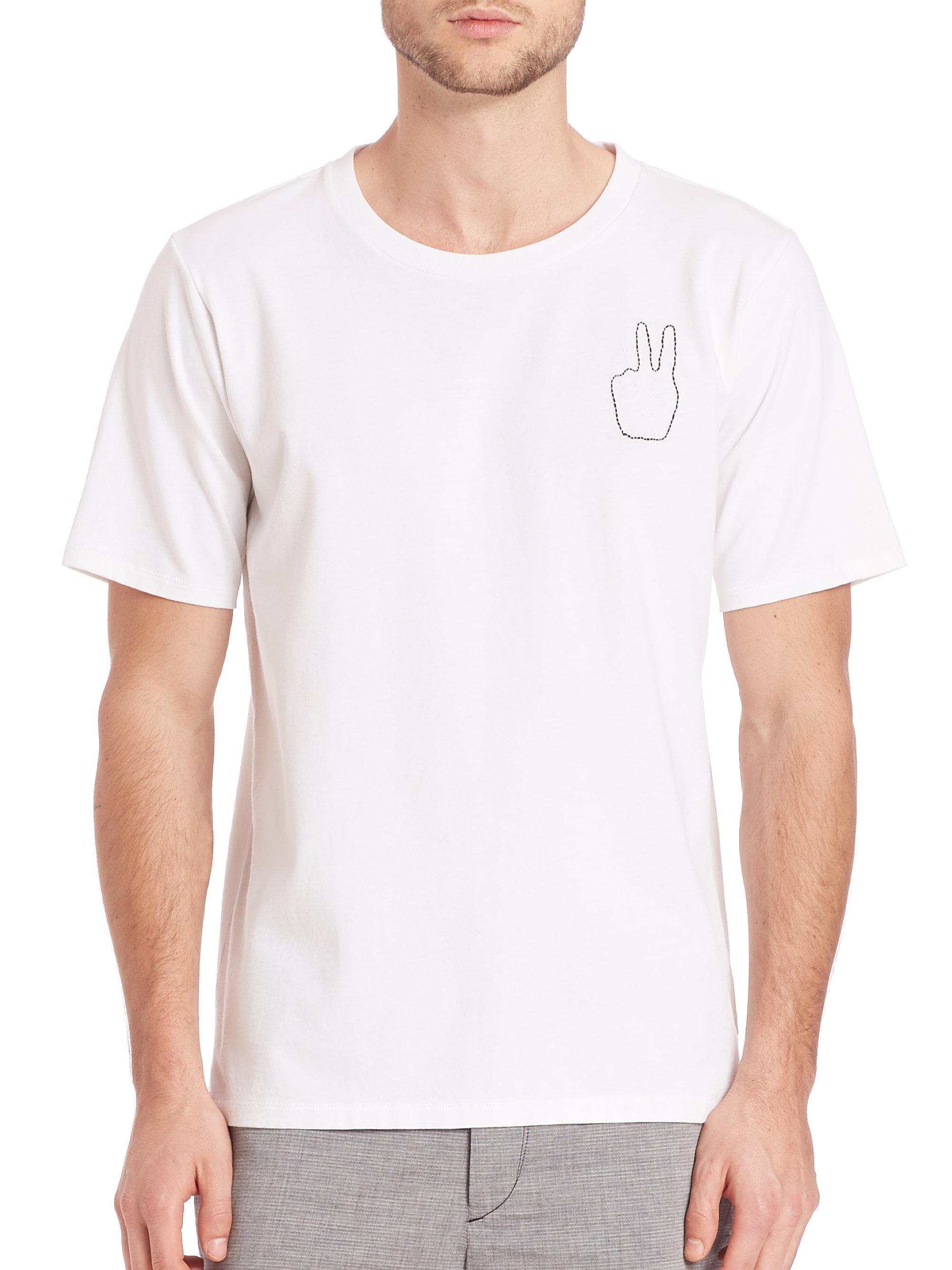 Lyst rag bone peace sign t shirt in white for men for Rag bone shirt