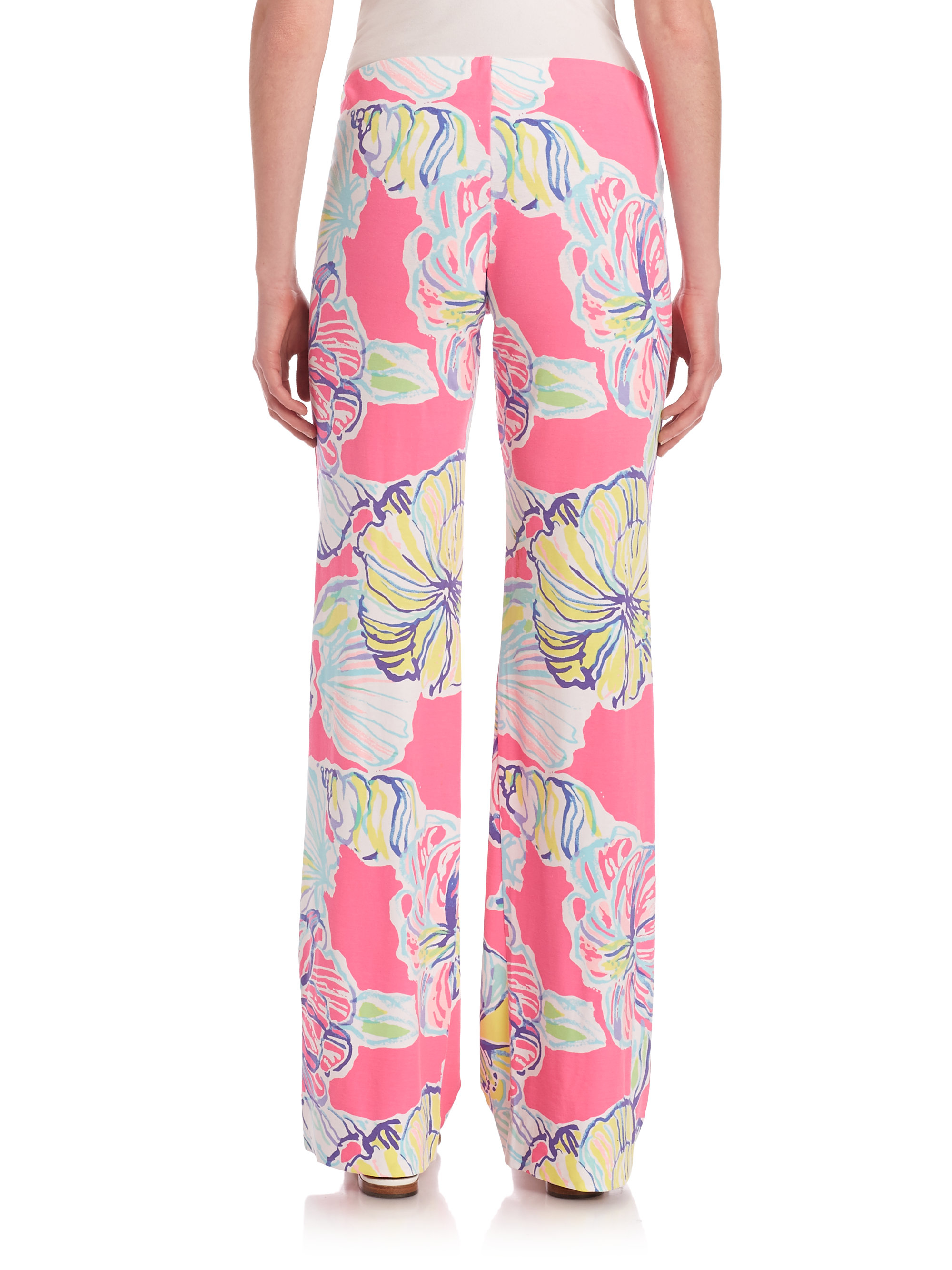 Lyst Lilly Pulitzer Georgia May Palazzo Pants In Black