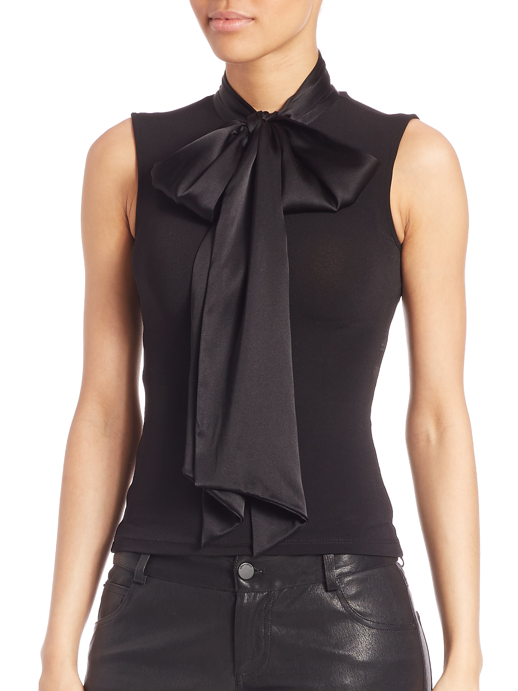 Fitted Tie Neck Blouse 82