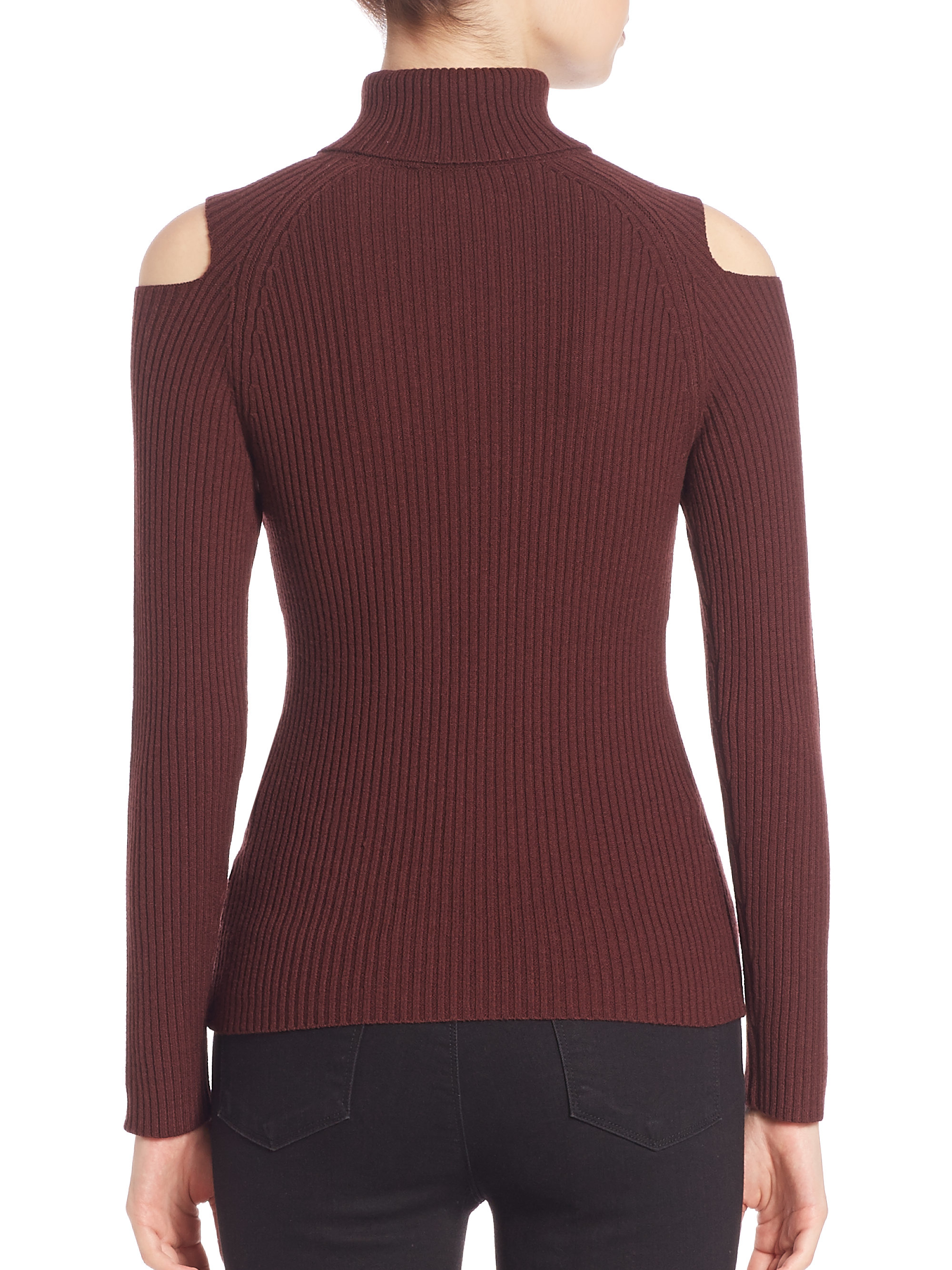 Theory Jemliss Evian Stretch Wool Blend Cold-shoulder ...