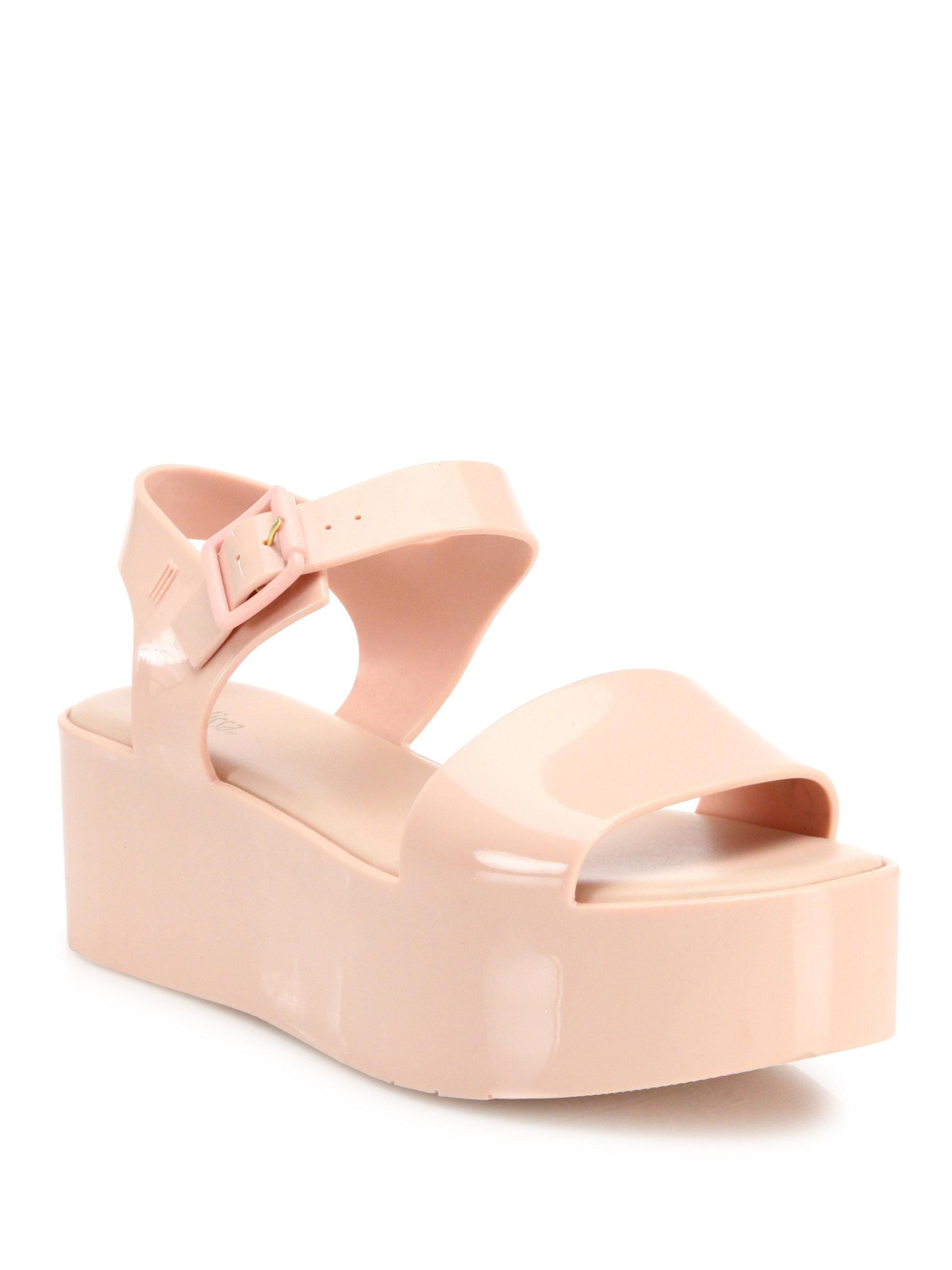 25c4e4ccce3 Lyst - Melissa Mar Jelly Platform Sandals in Pink