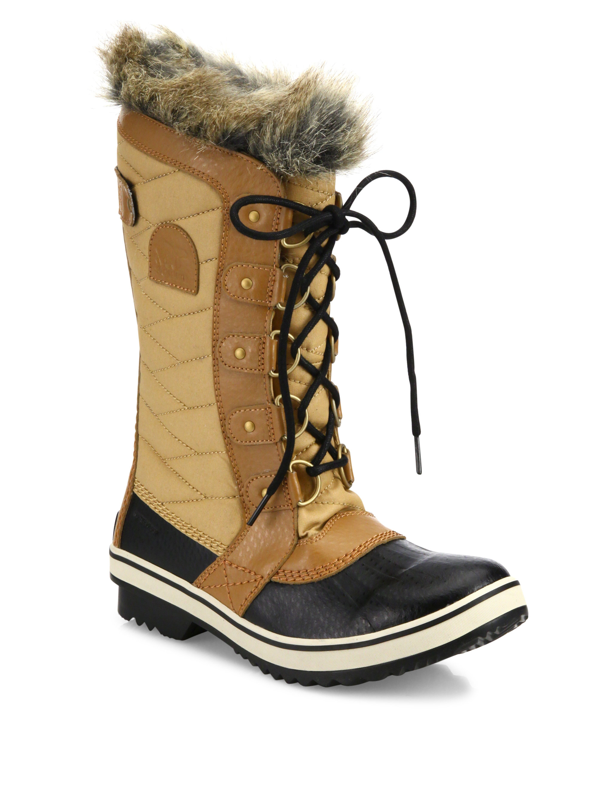 Sorel Tofino Ii Coated Canvas Amp Faux Fur Winter Boots Lyst