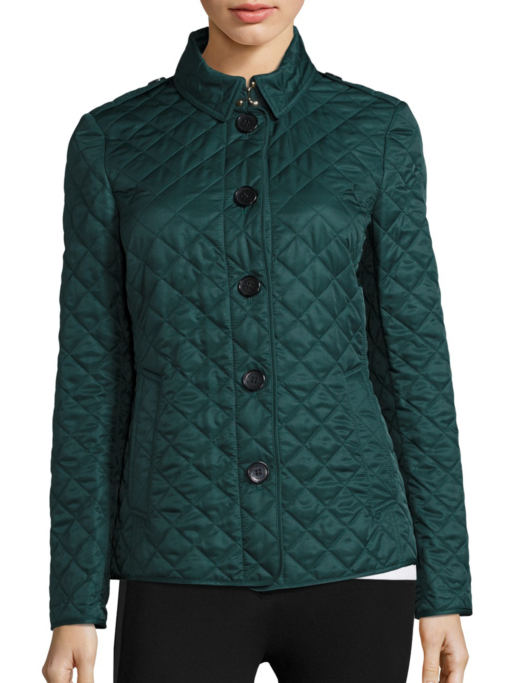 Burberry Ashurst Diamond-quilted Jacket in Blue | Lyst : quilted racing jacket - Adamdwight.com