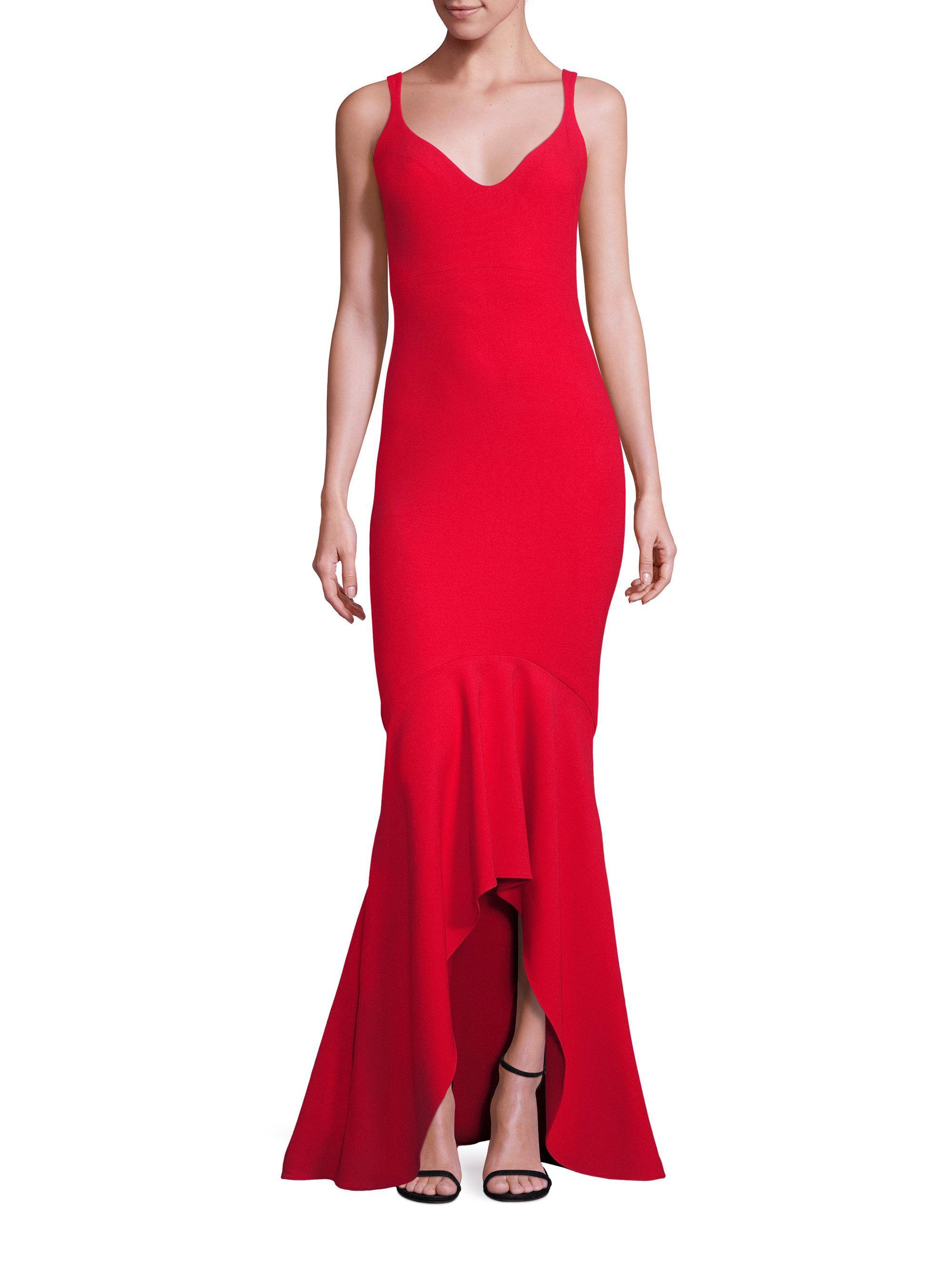 f3338fcab97 Cinq À Sept Sade Hi-lo Gown in Red - Lyst