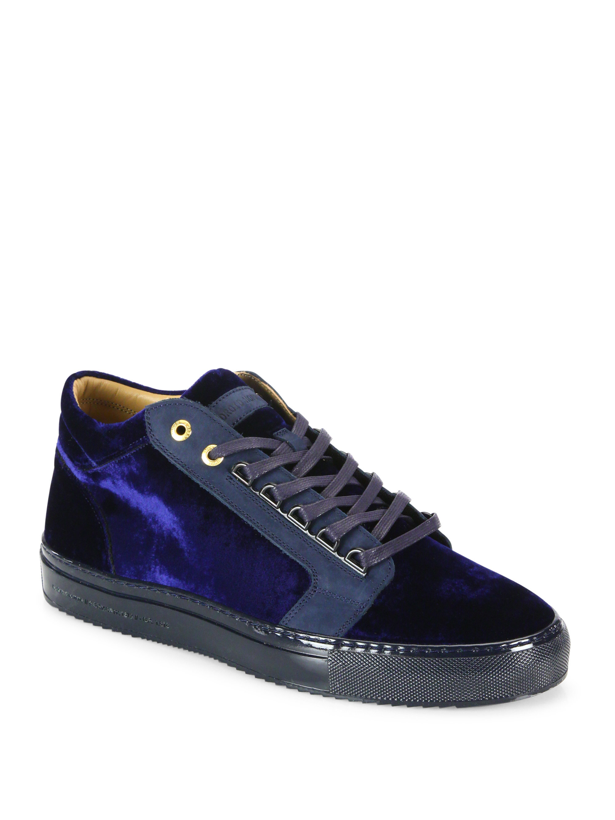 Android Homme Velvet Lace-up Sneakers
