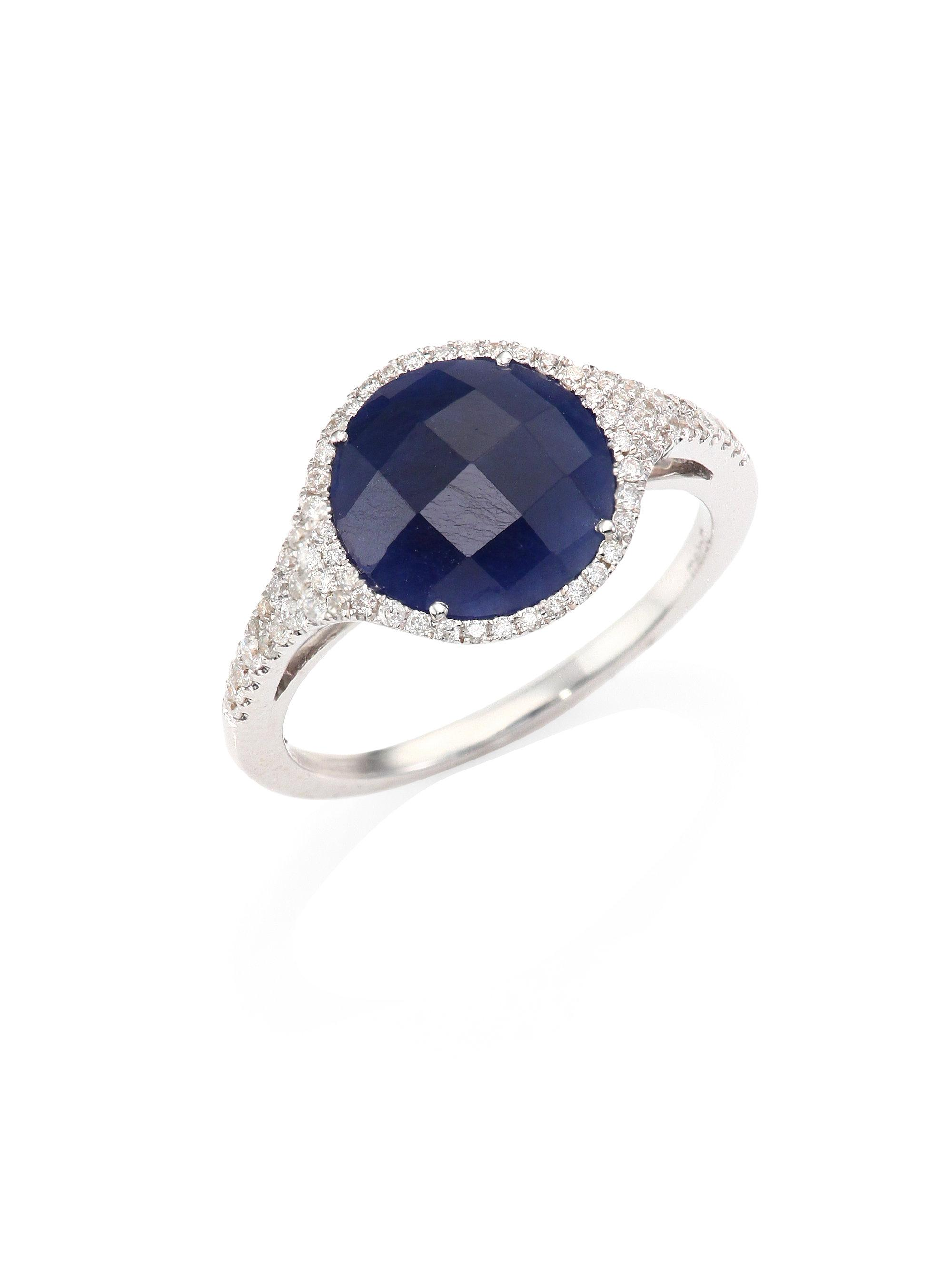 meira t blue sapphire 14k white gold ring in