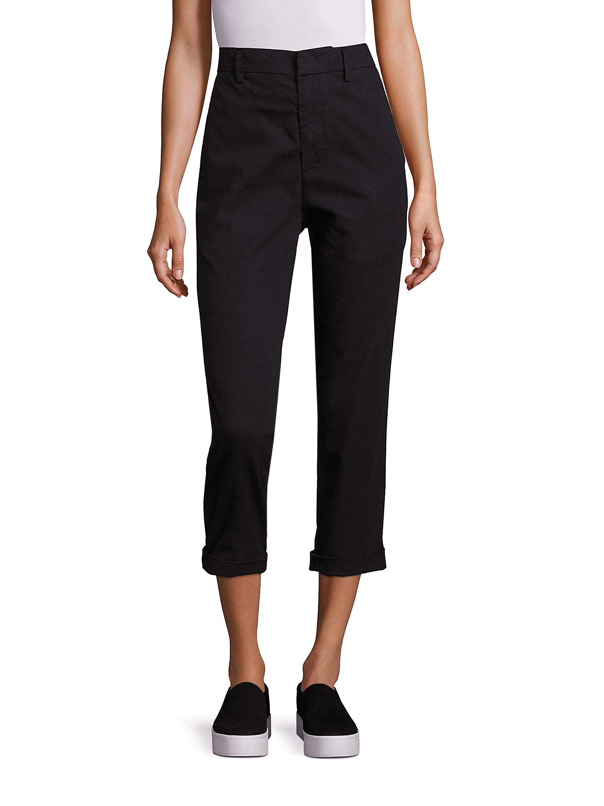 Brilliant Sexy Women39s Chino Style Cuffed Ladies Trousers Pants Black Pants Size