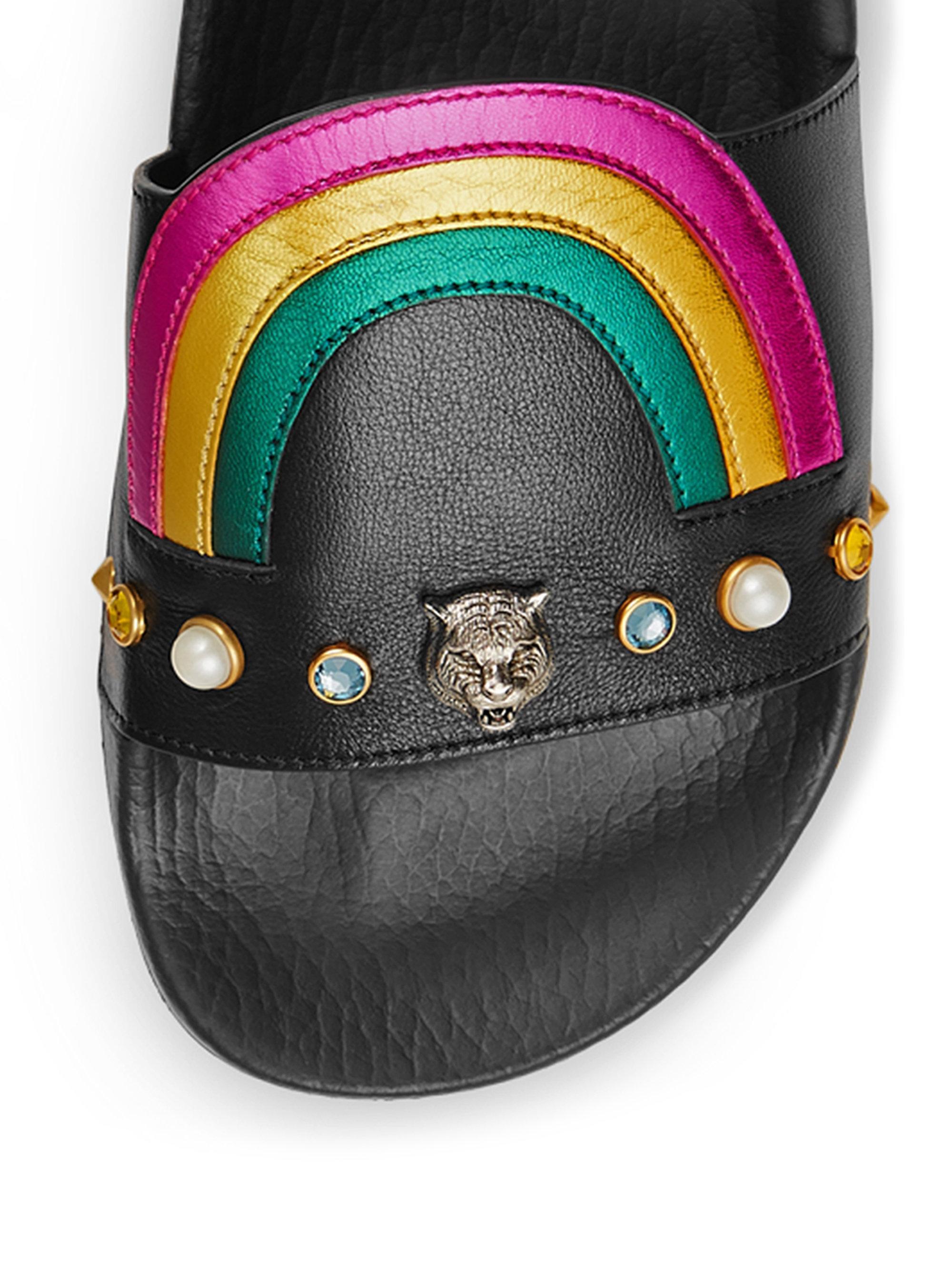 9fde978f41aa9 Black Pearl Slide Sandals.Miu Miu Pearl Stud Embellished Velvet ...