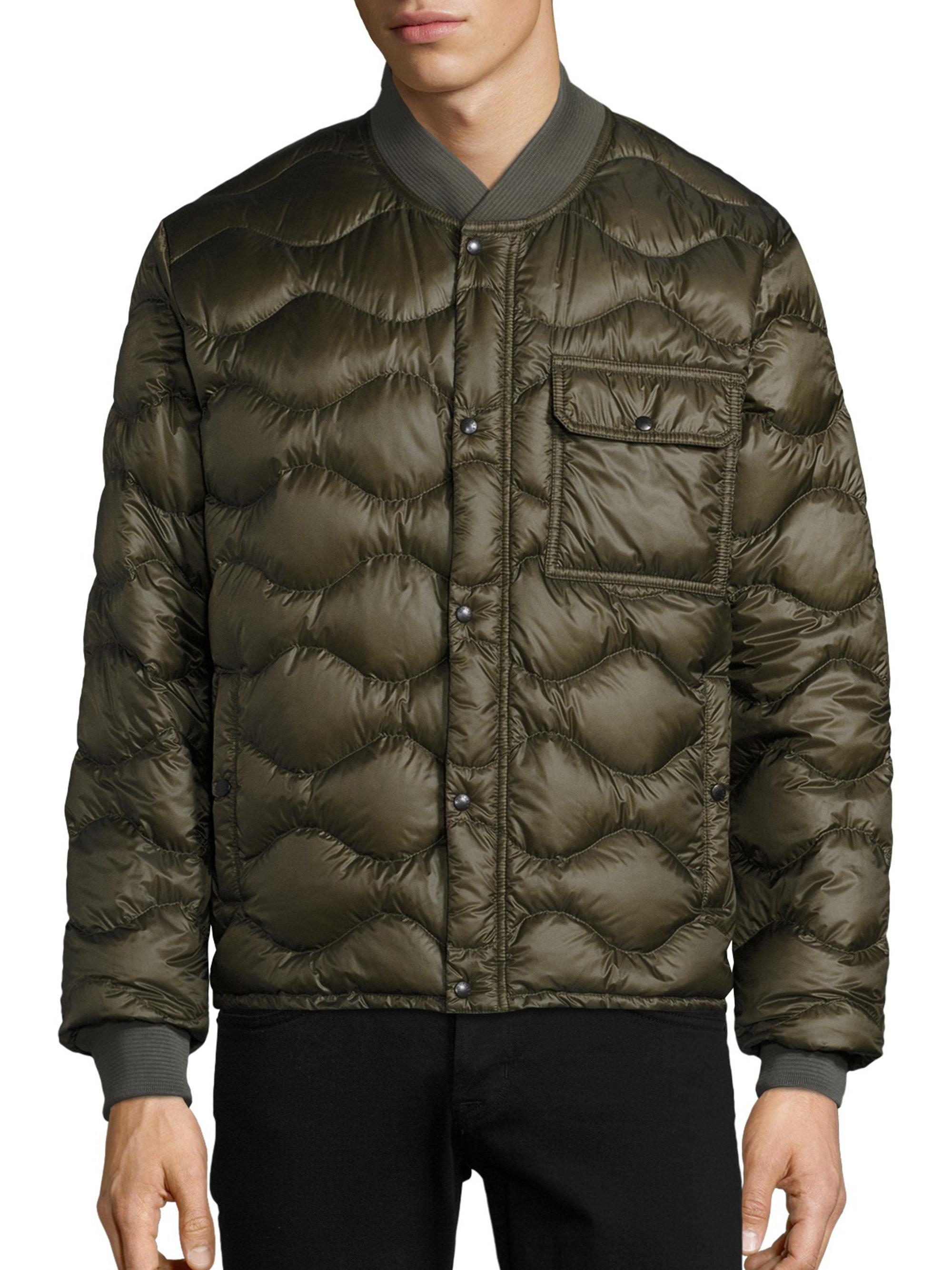 Lyst Moncler Frank Giubotto Wave Quilted Jacket In Green