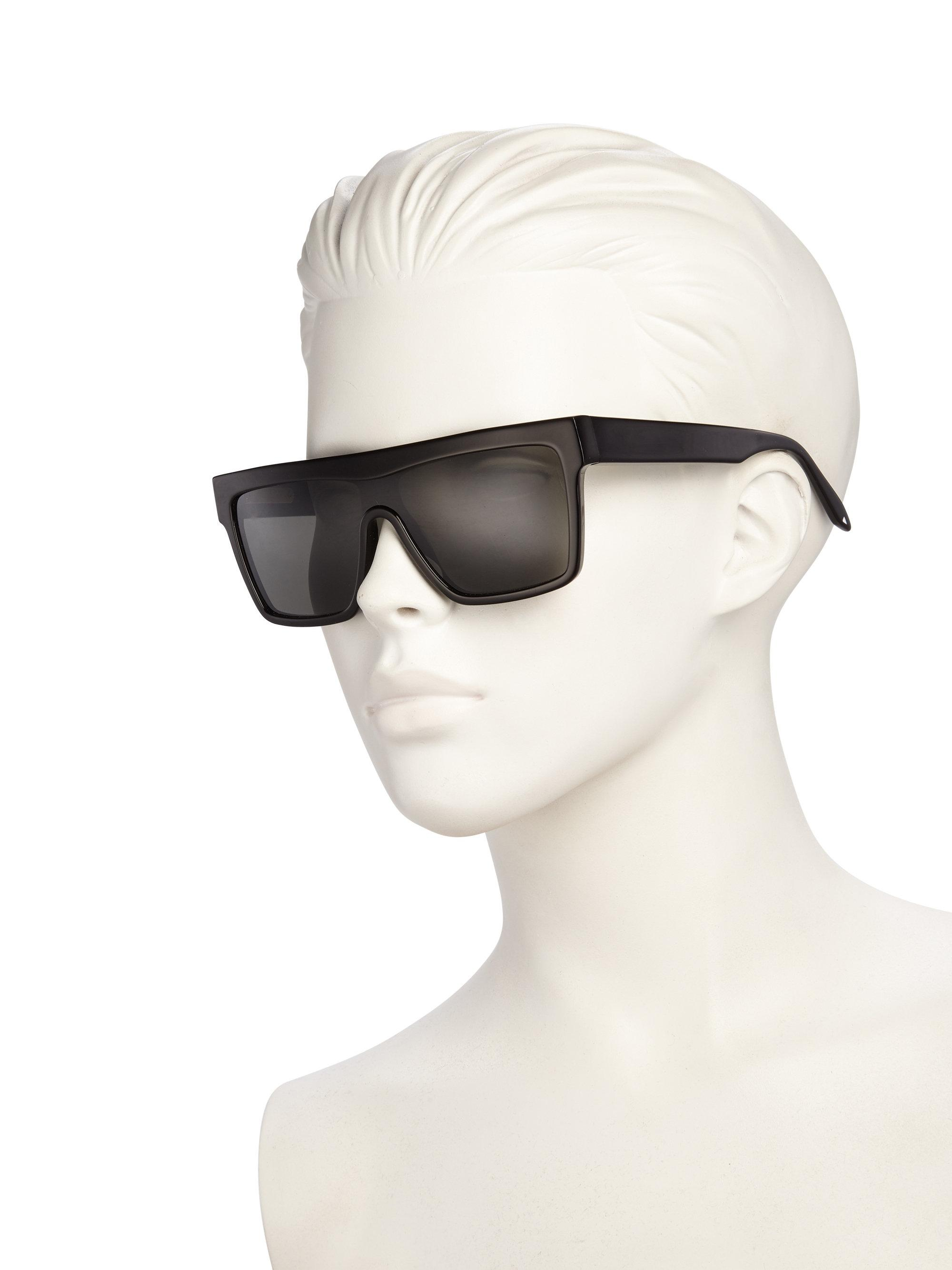 Victoria Beckham 57mm Flat Top Visor Sunglasses In Black