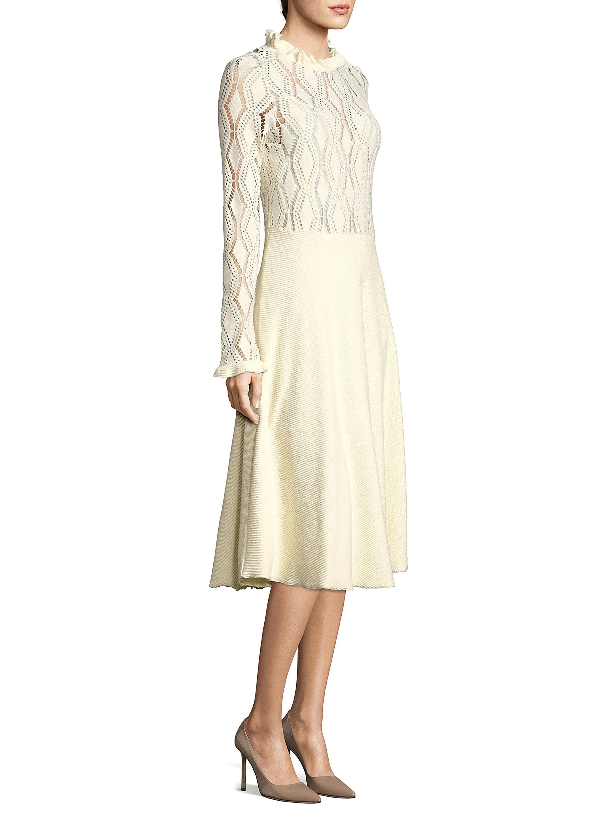 921bdbdcb5 See By Chloé Multicolor Lacy Jersey Long Sleeve Dress