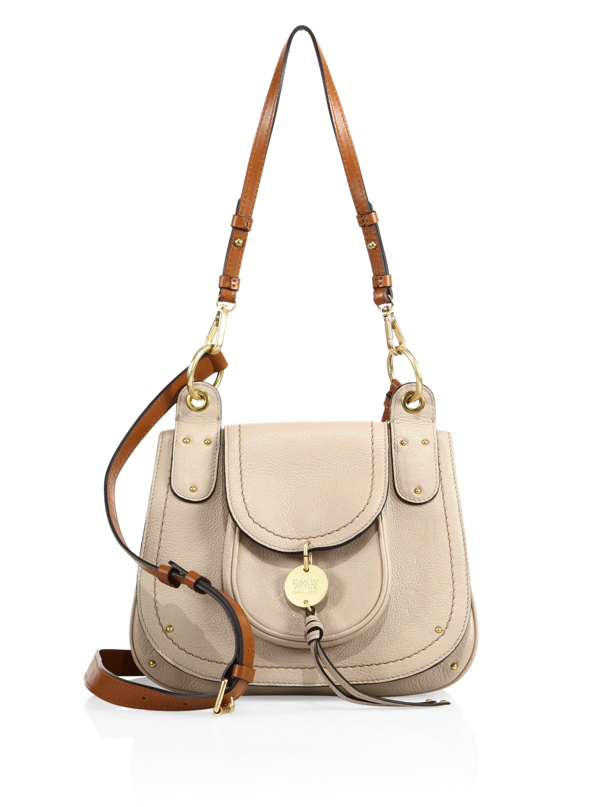 7a9cd37e See By Chloé Gray Susie Large Leather Shoulder Bag